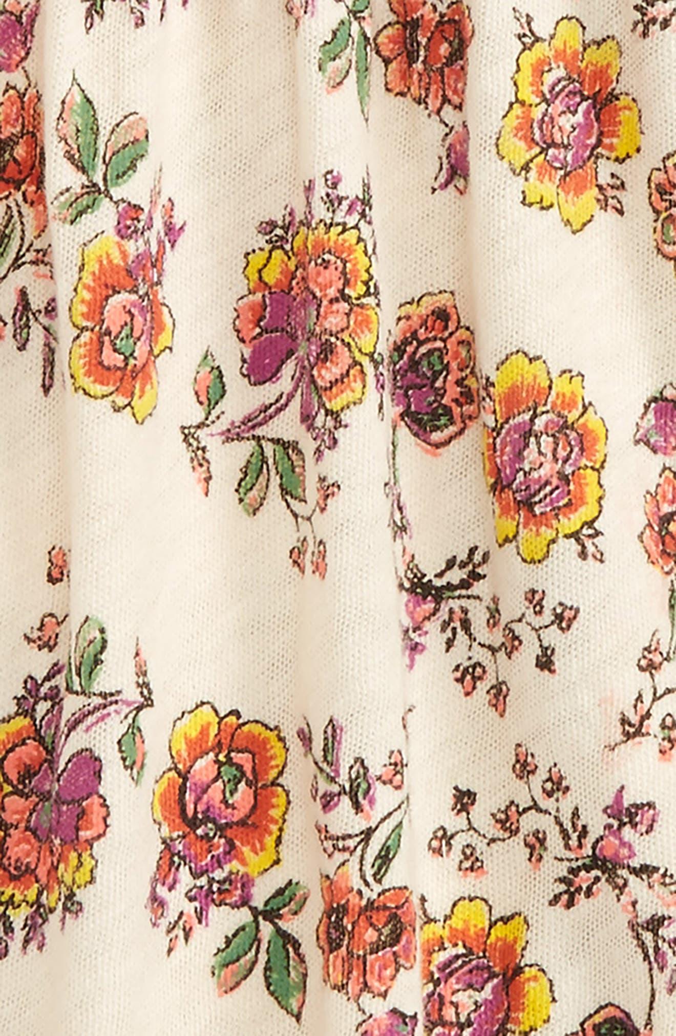 Peek Floral Print Dress,                             Alternate thumbnail 2, color,                             900