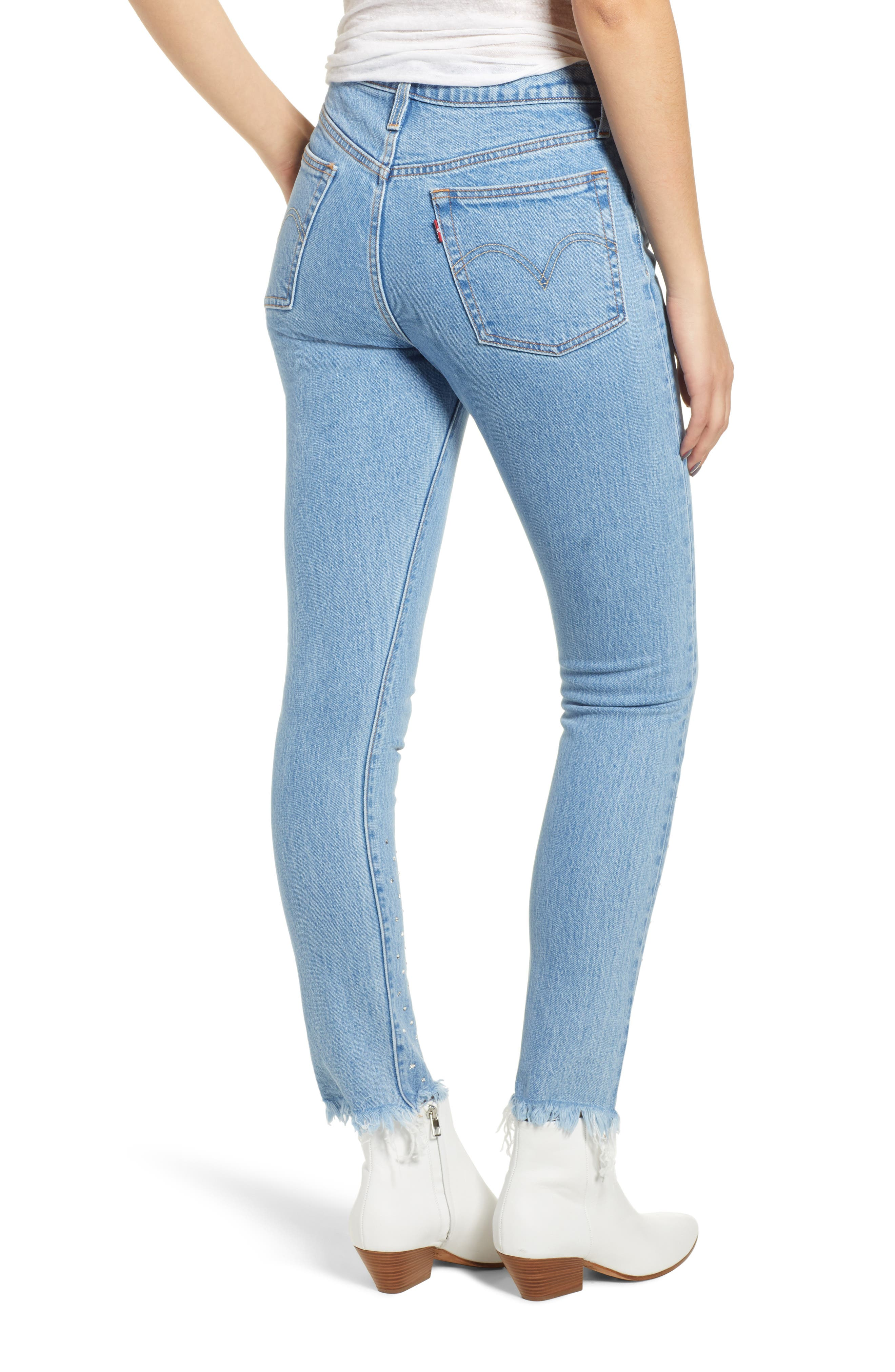 501<sup>®</sup> High Waist Skinny Jeans,                             Alternate thumbnail 2, color,                             420
