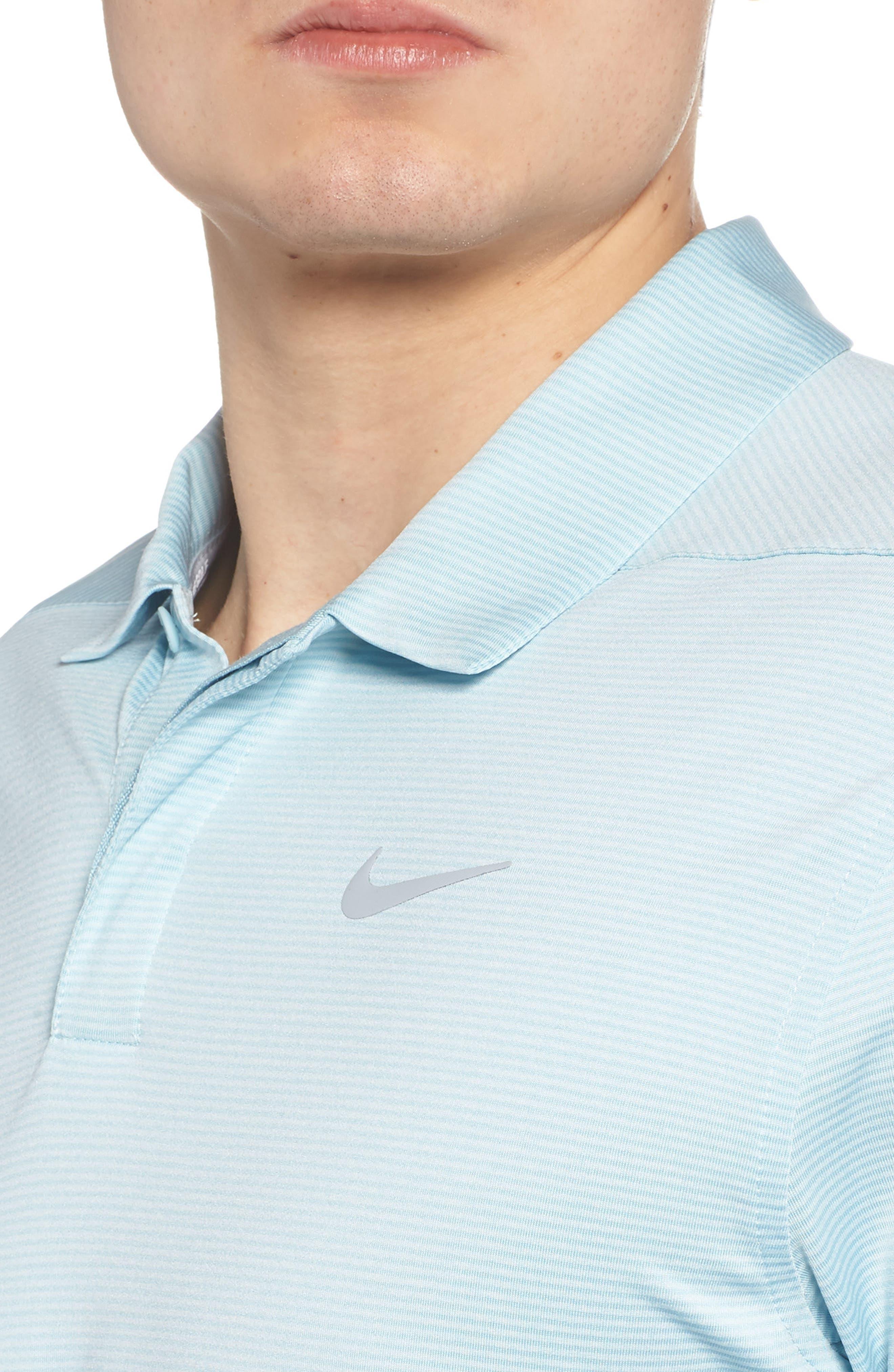 Dry Polo Shirt,                             Alternate thumbnail 4, color,                             OCEAN BLISS/ SILVER