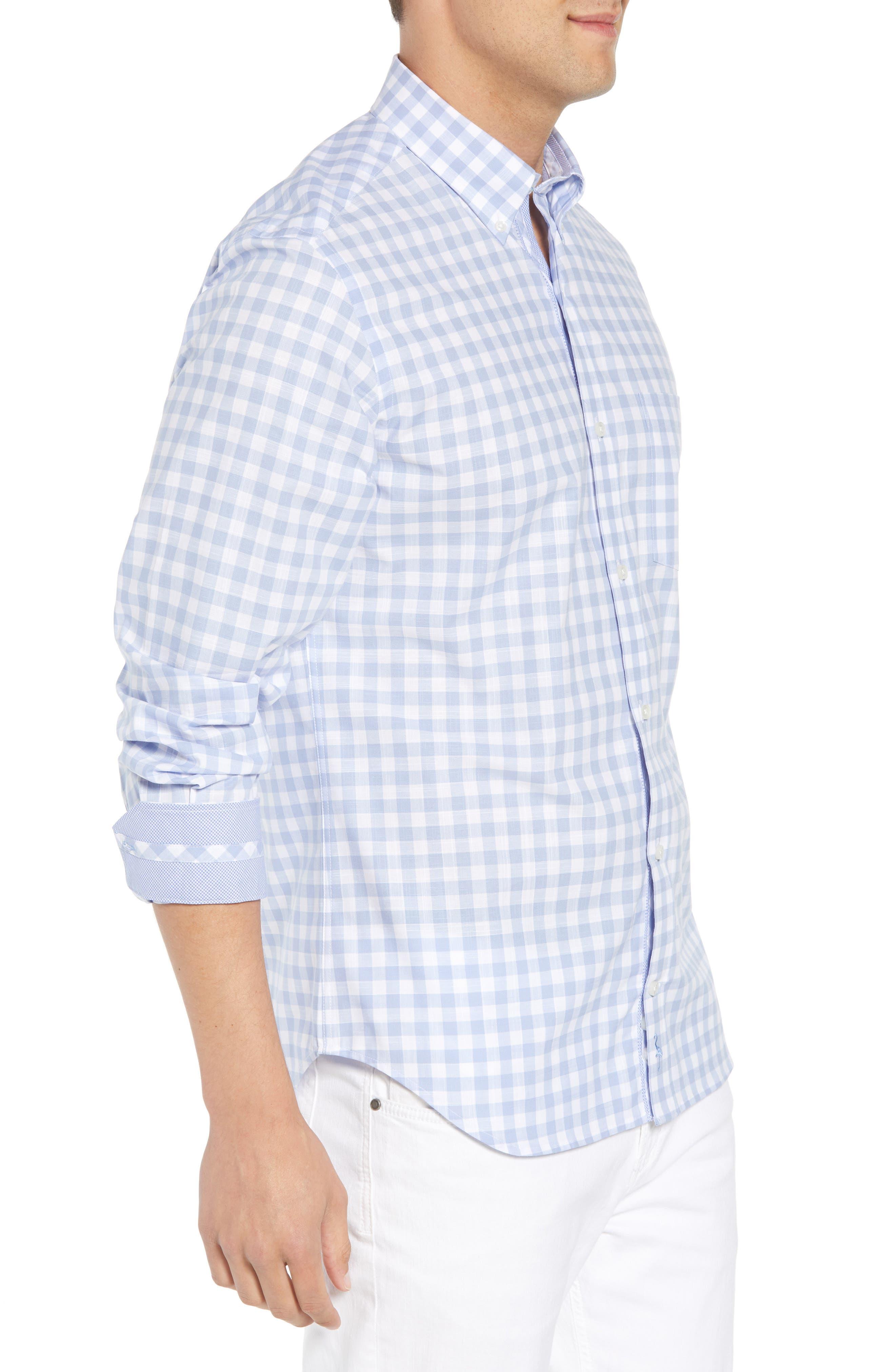 Eitenne Regular Fit Check Sport Shirt,                             Alternate thumbnail 3, color,                             450