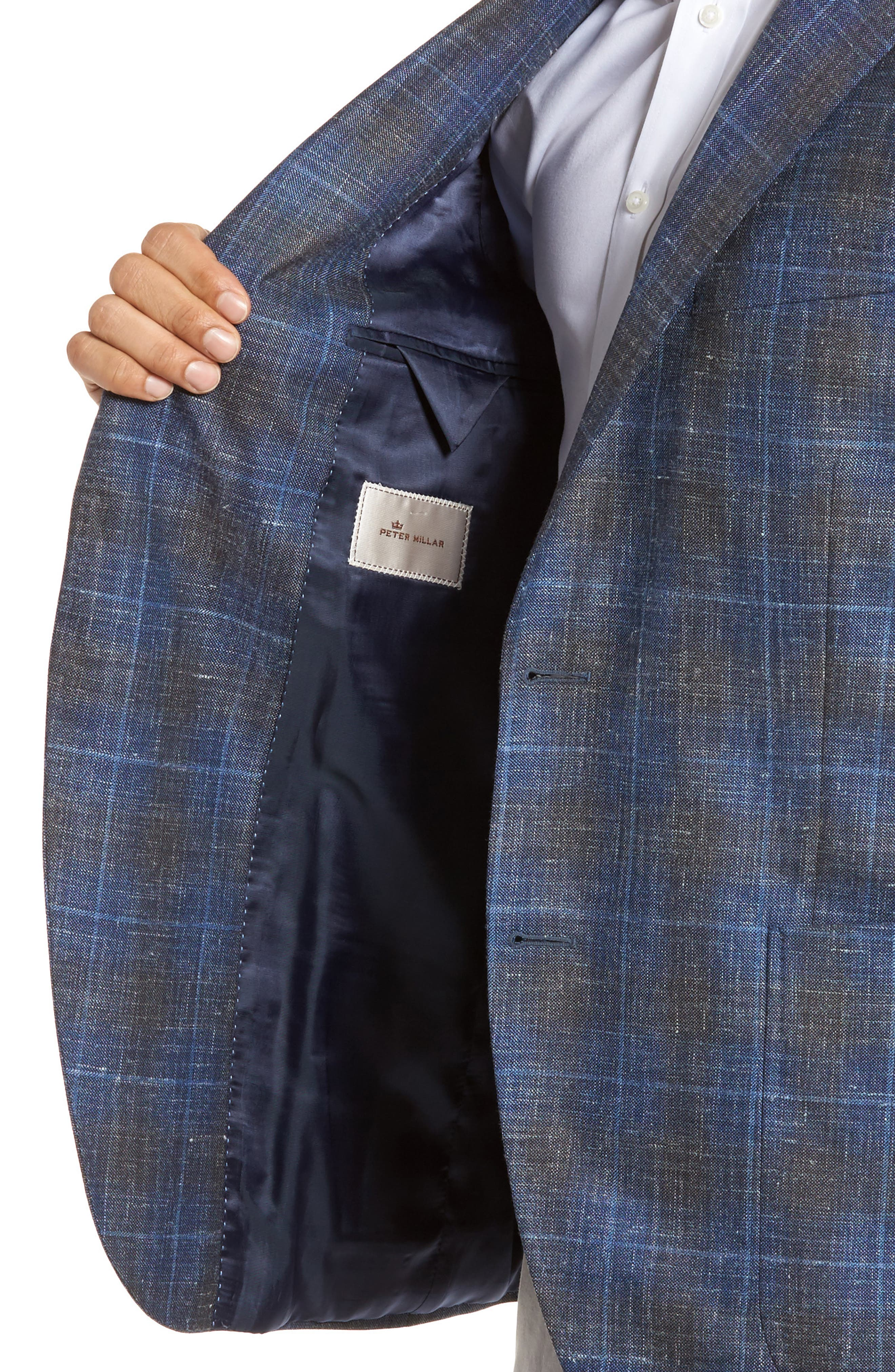 Classic Fit Plaid Wool Blend Sport Coat,                             Alternate thumbnail 4, color,                             400