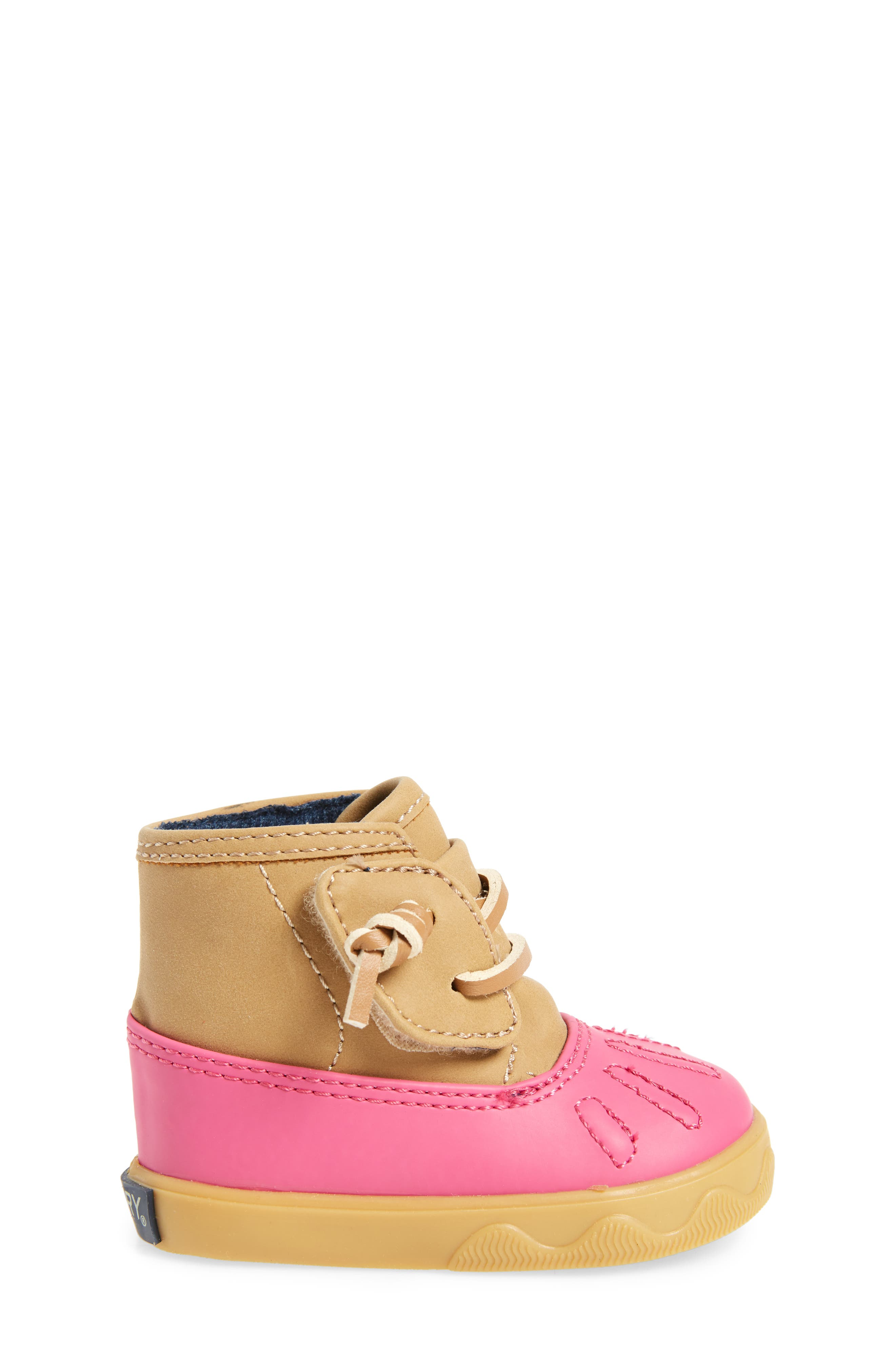 Sperry Icestorm Crib Duck Bootie,                             Alternate thumbnail 3, color,                             650