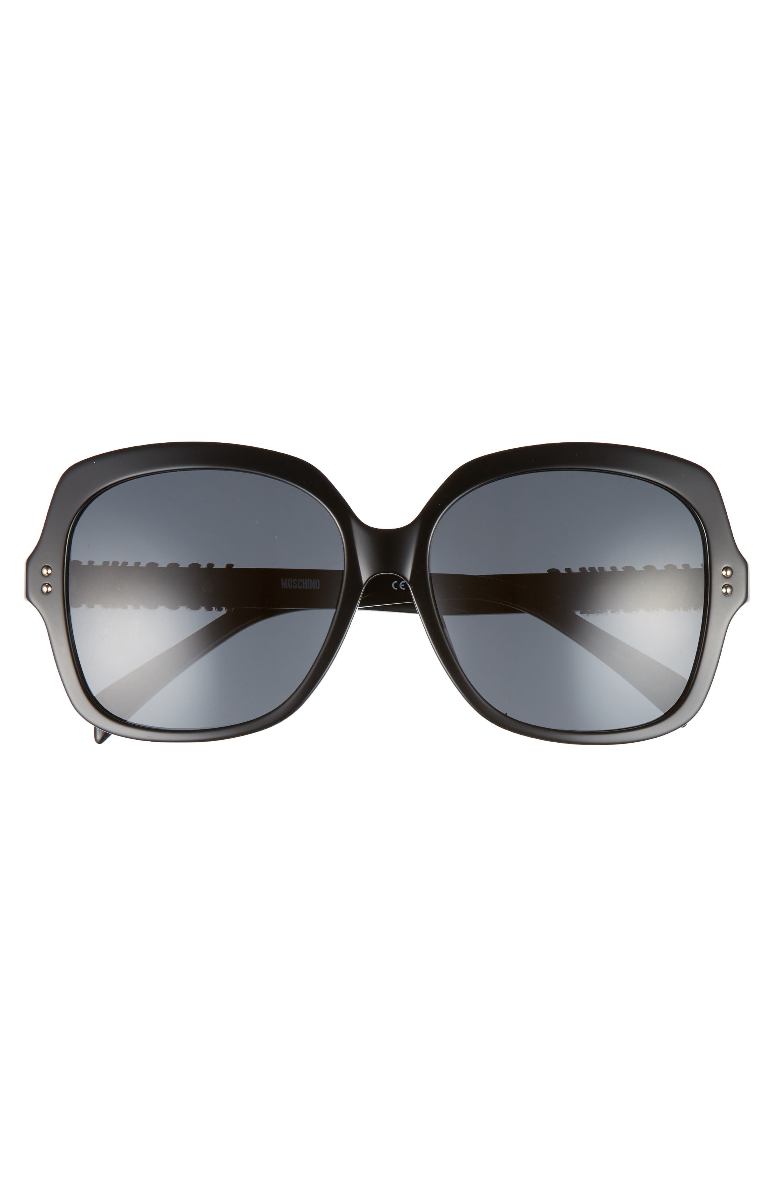 57mm Oversized Polarized Sunglasses,                             Alternate thumbnail 9, color,