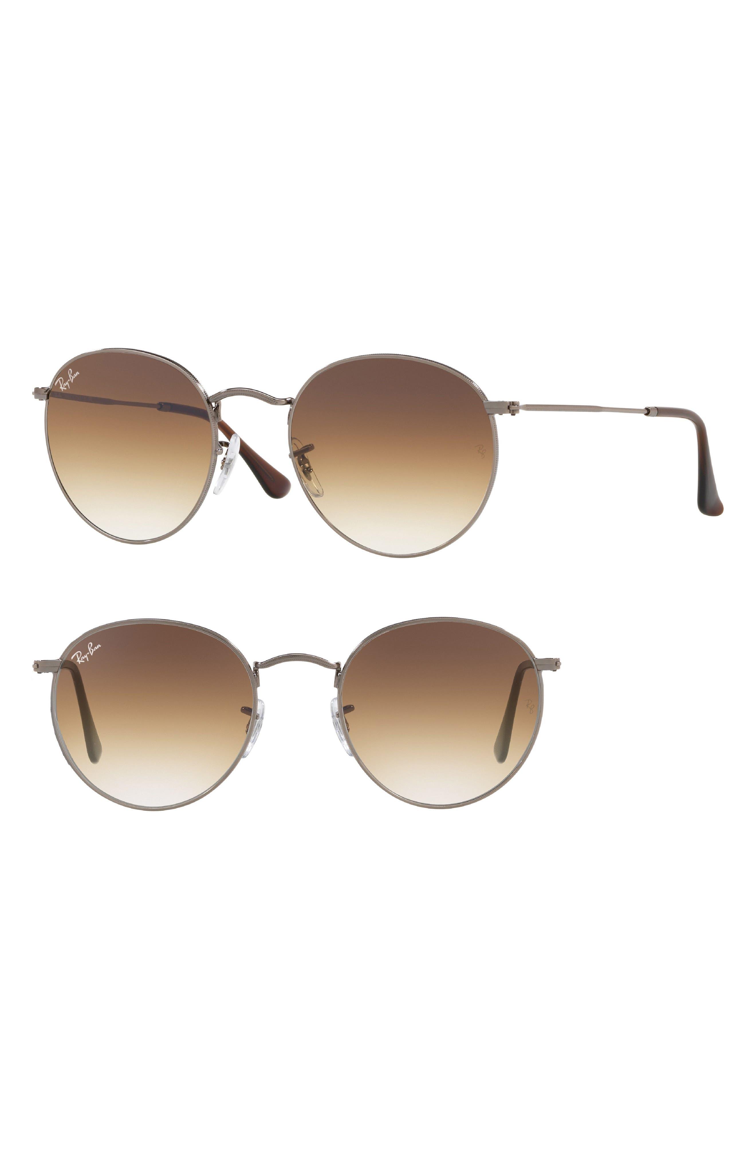 Phantos 50mm Gradient Sunglasses,                             Main thumbnail 1, color,                             GUNMETAL