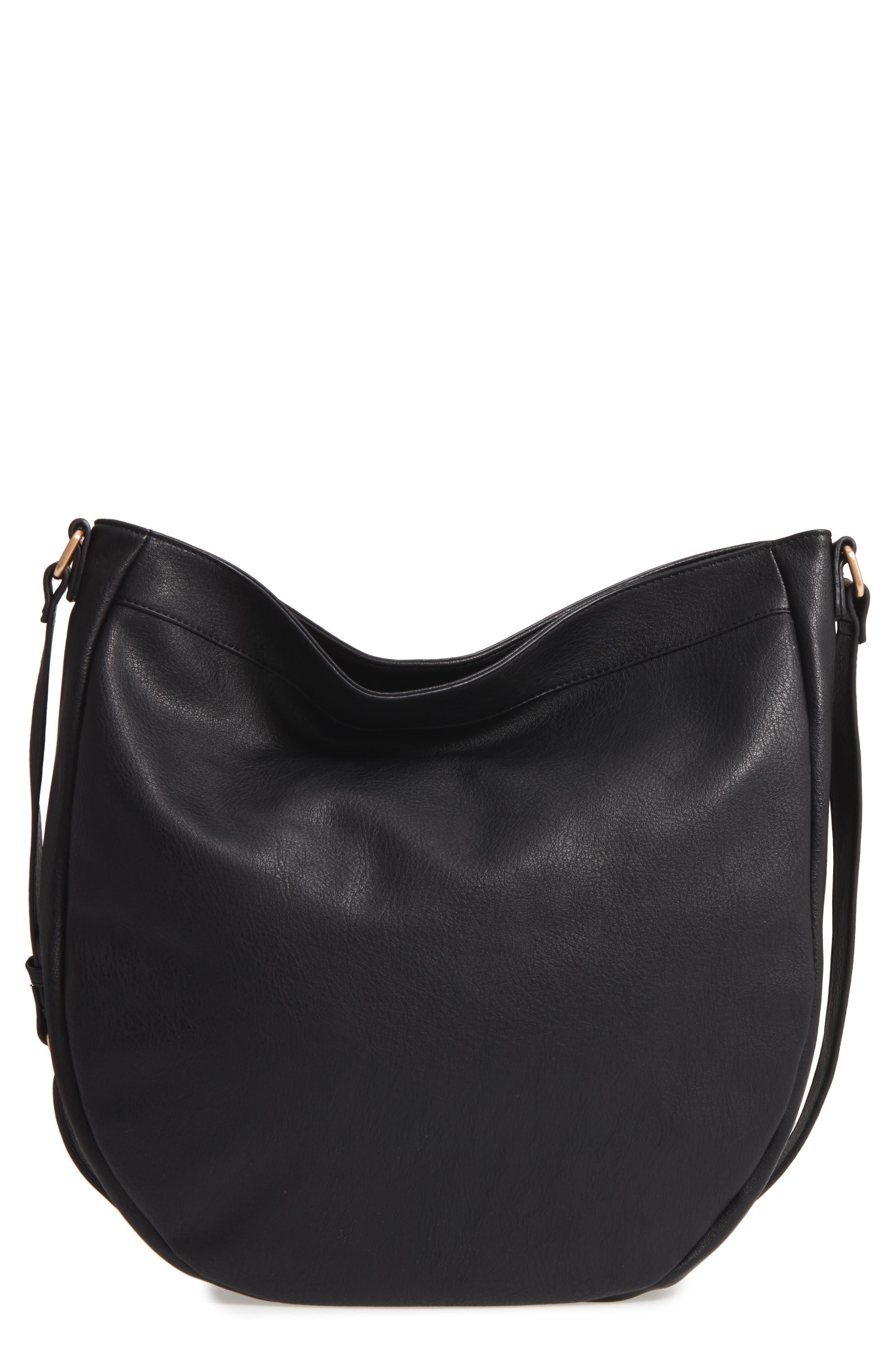 Kadence Faux Leather Shoulder Bag,                             Main thumbnail 1, color,