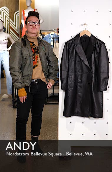 Double Breasted Leather Coat, sales video thumbnail