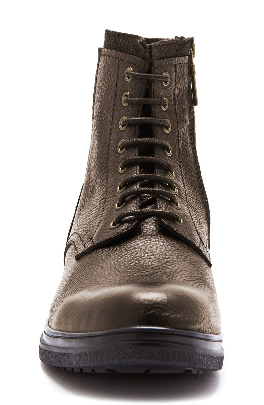 'Backoff' Waterproof Plain Toe Boot,                             Alternate thumbnail 3, color,                             200
