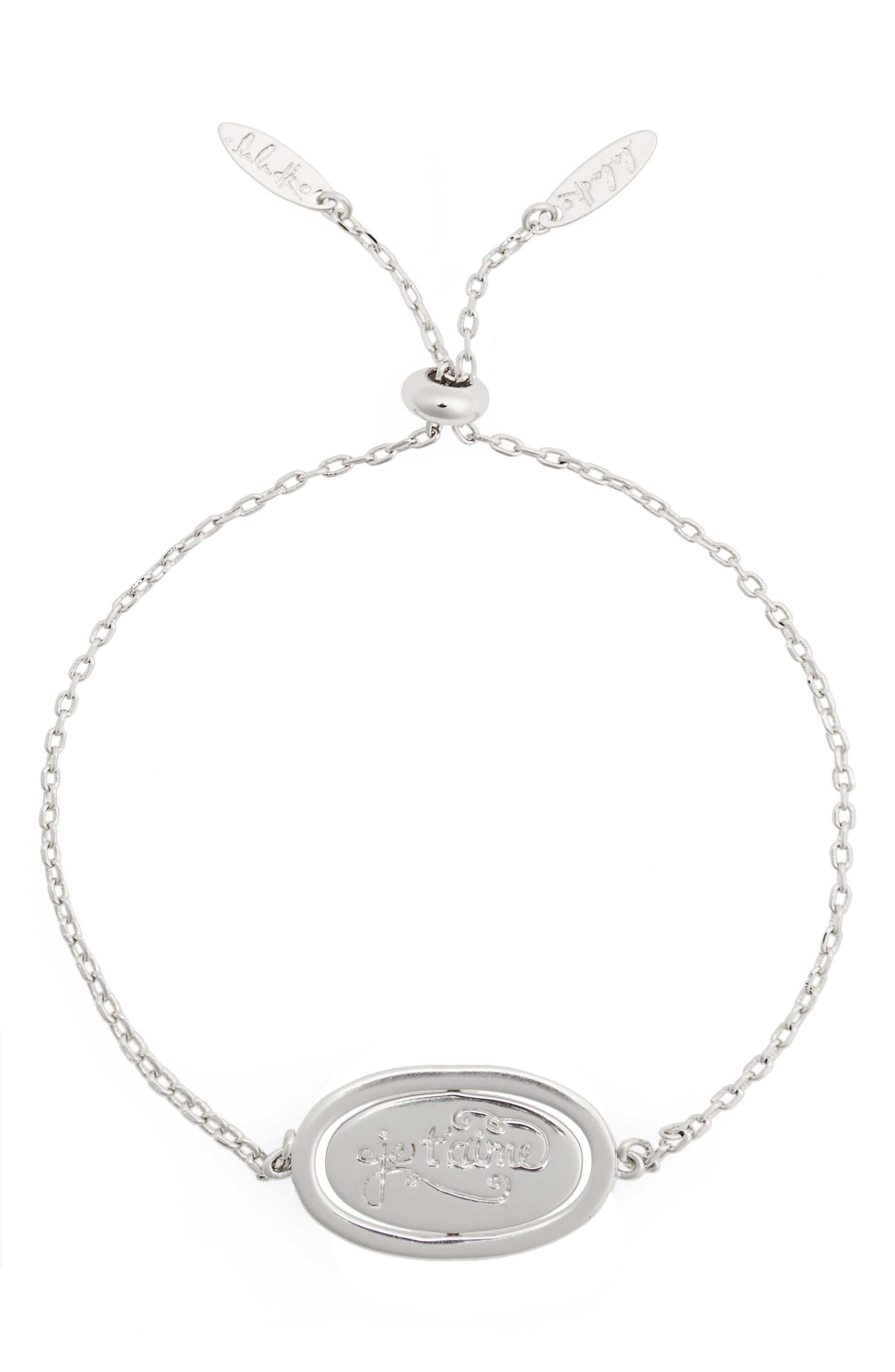 Love Letters Spinning Pendant Bracelet,                         Main,                         color, 041