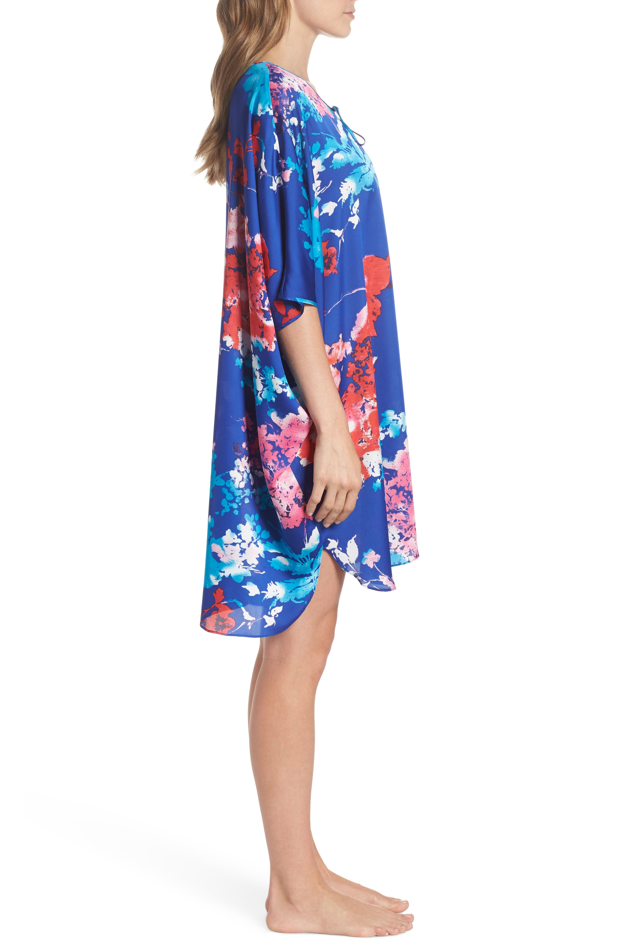Fiji Print Caftan,                             Alternate thumbnail 3, color,                             405