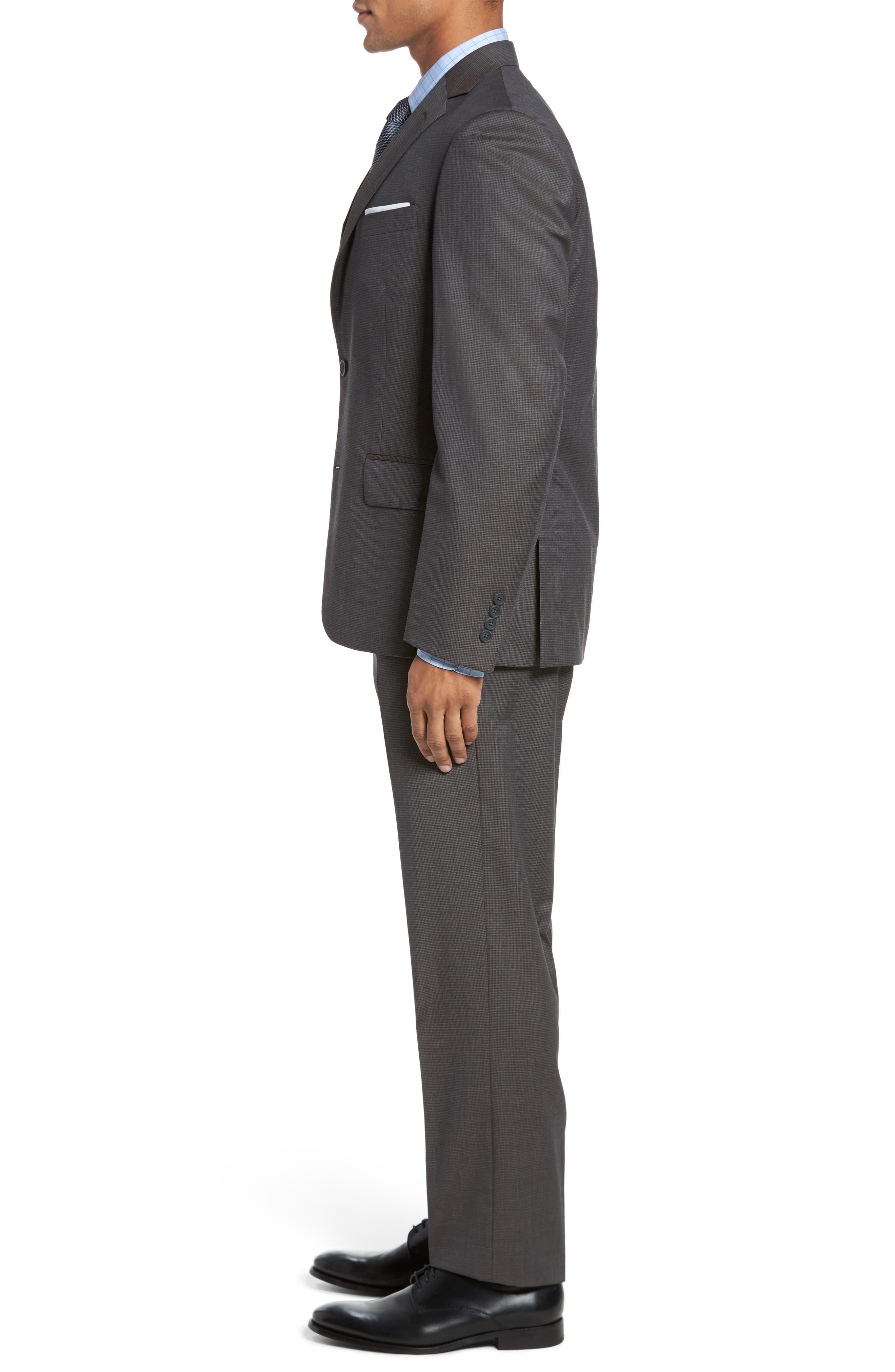 Classic Fit Check Wool Suit,                             Alternate thumbnail 10, color,