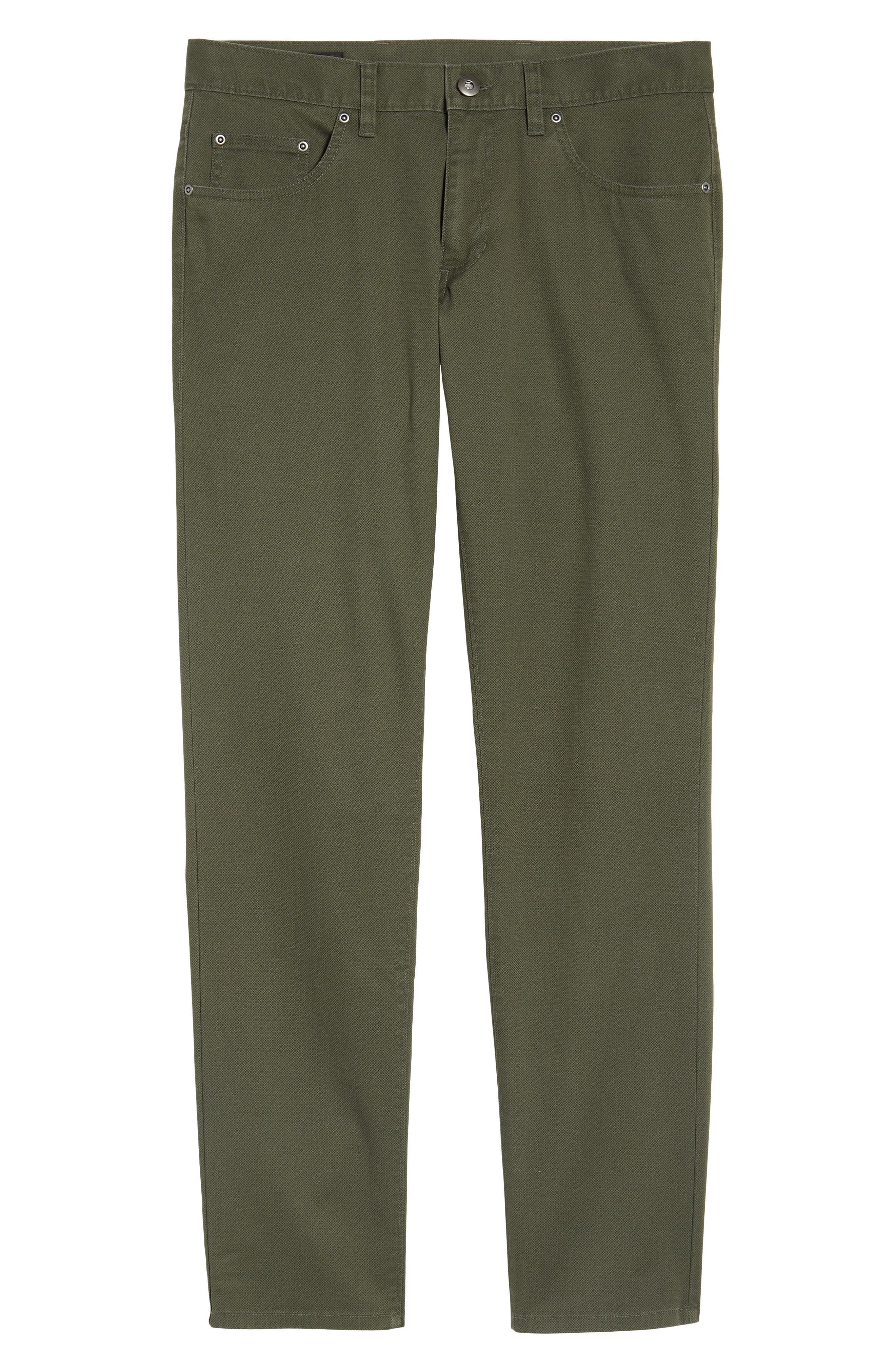 Textured Stretch Cotton Pants,                             Alternate thumbnail 6, color,                             301