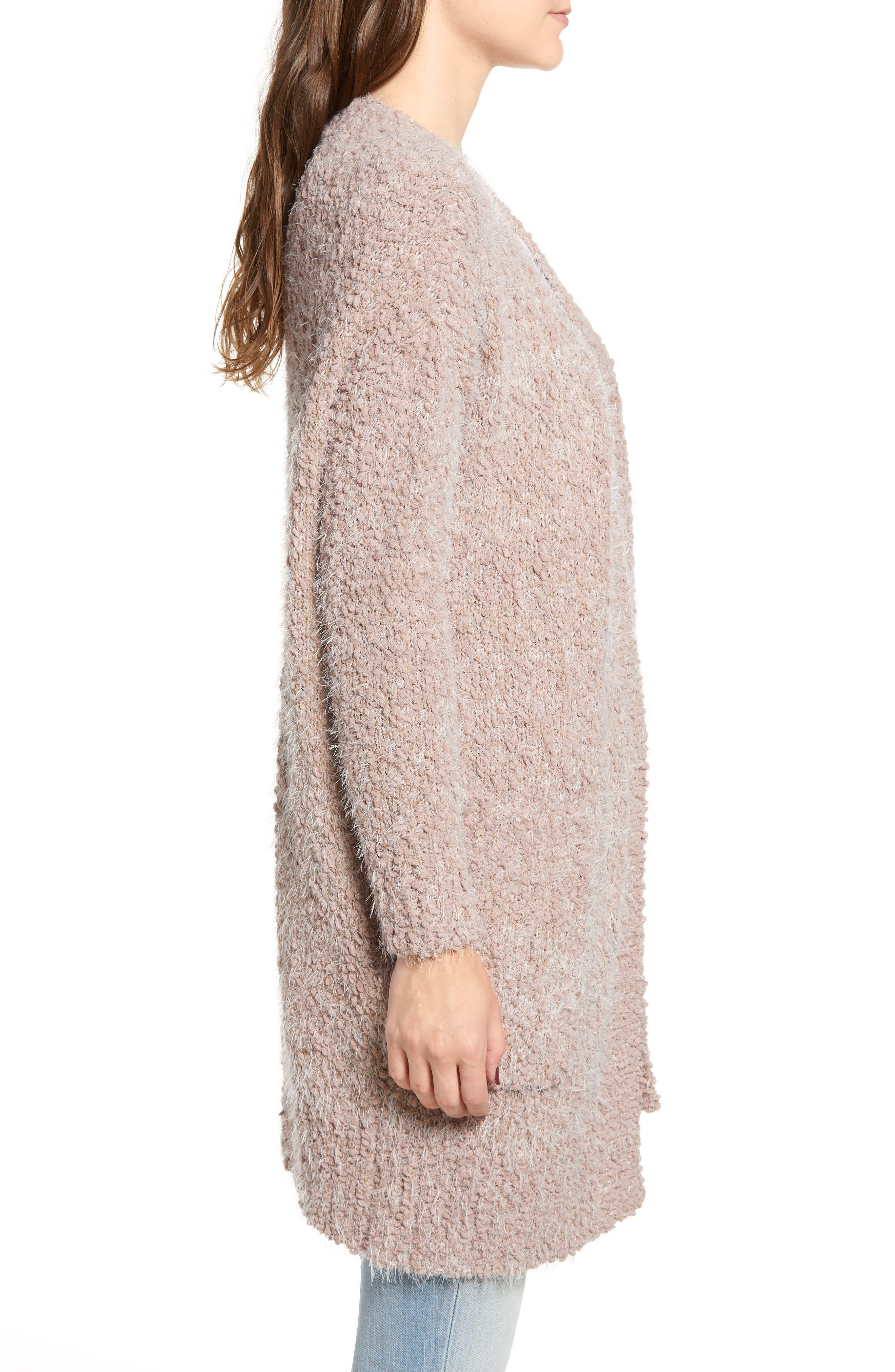 LIRA CLOTHING,                             Miranda Knit Cardigan,                             Alternate thumbnail 3, color,                             DUSTY ROSE