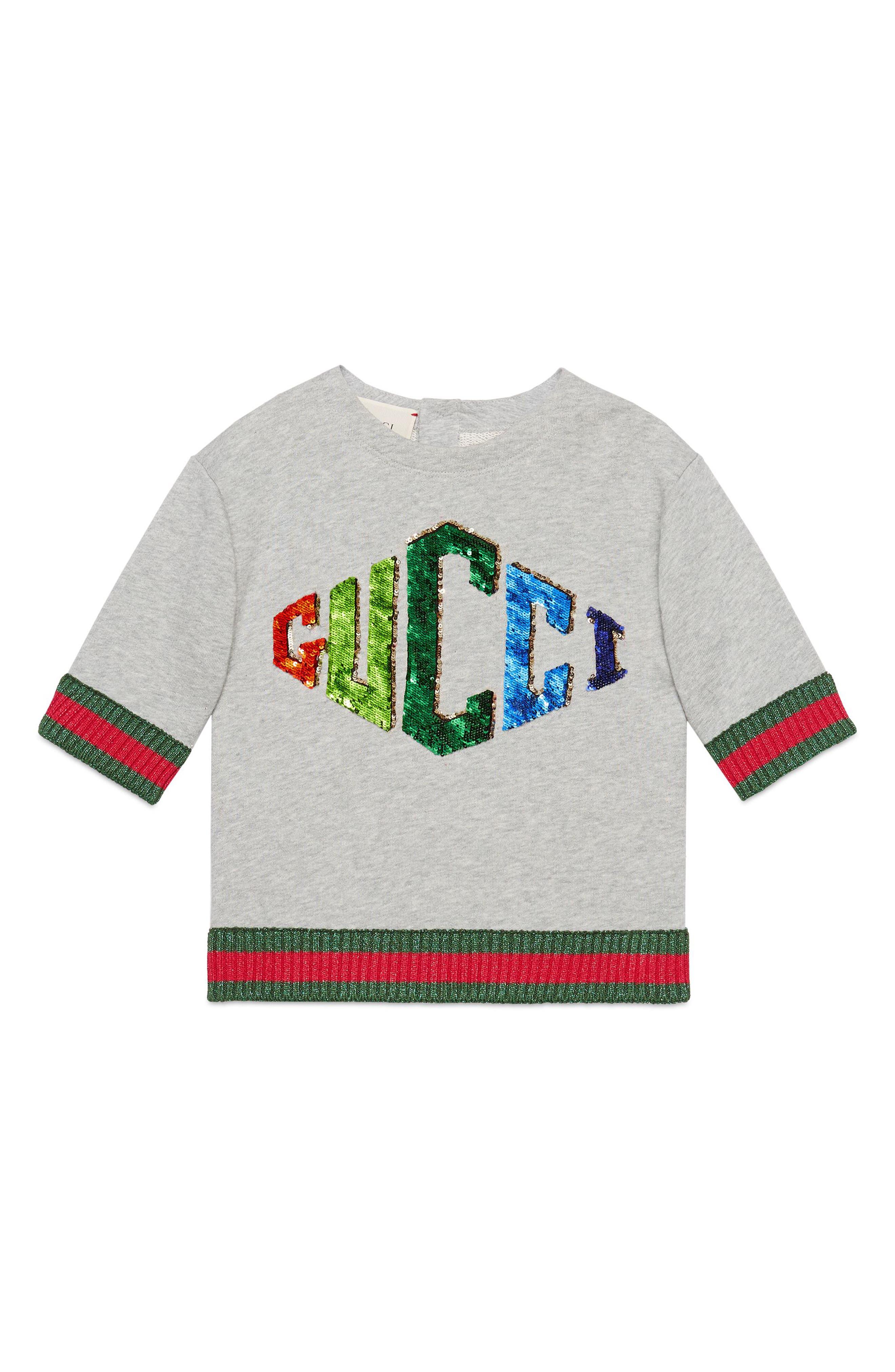 Game Patch Sweatshirt,                         Main,                         color, L.GREY/ MULTICOLOR