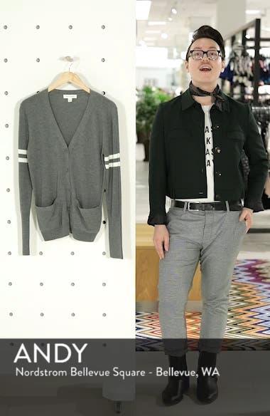 Stripe Sleeve Cardigan, sales video thumbnail