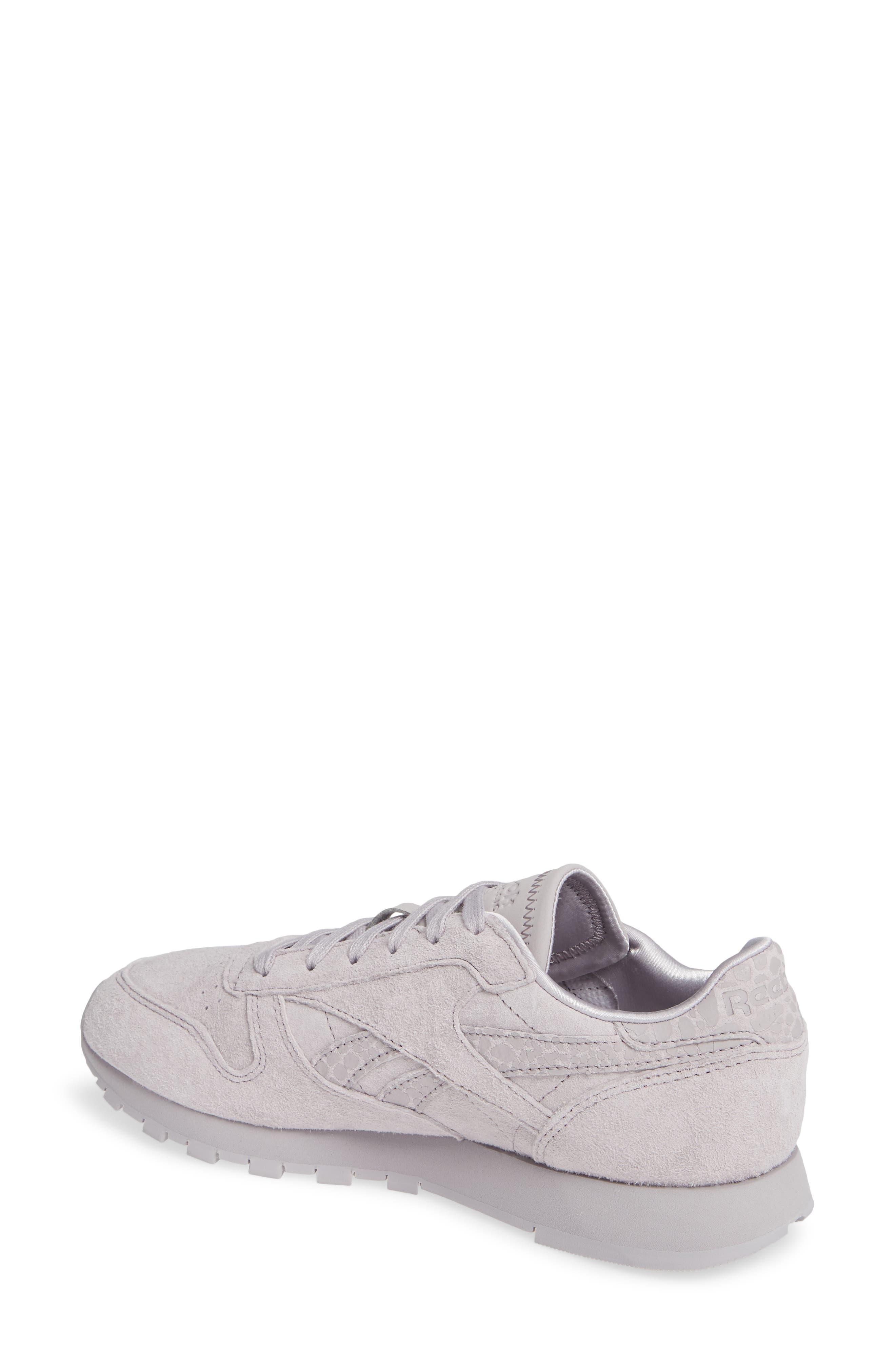 REEBOK,                             Classic Leather Sneaker,                             Alternate thumbnail 2, color,                             WHISPER GREY
