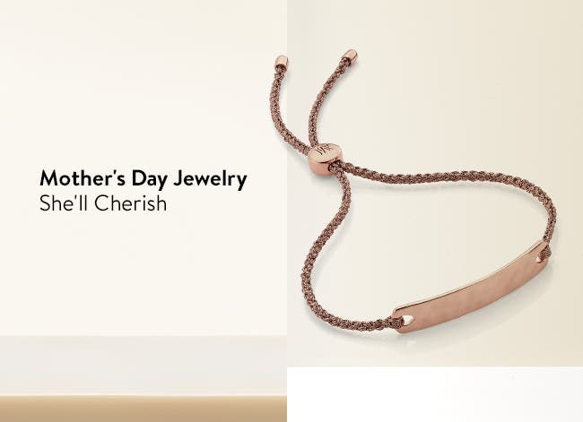 Personalized jewelry gifts for Mother's Day.