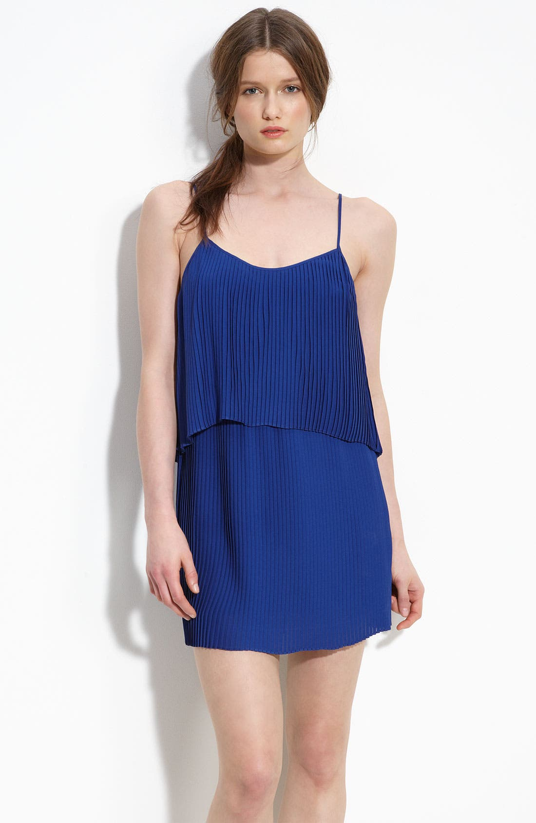 Pleated Georgette Dress,                             Main thumbnail 1, color,                             430