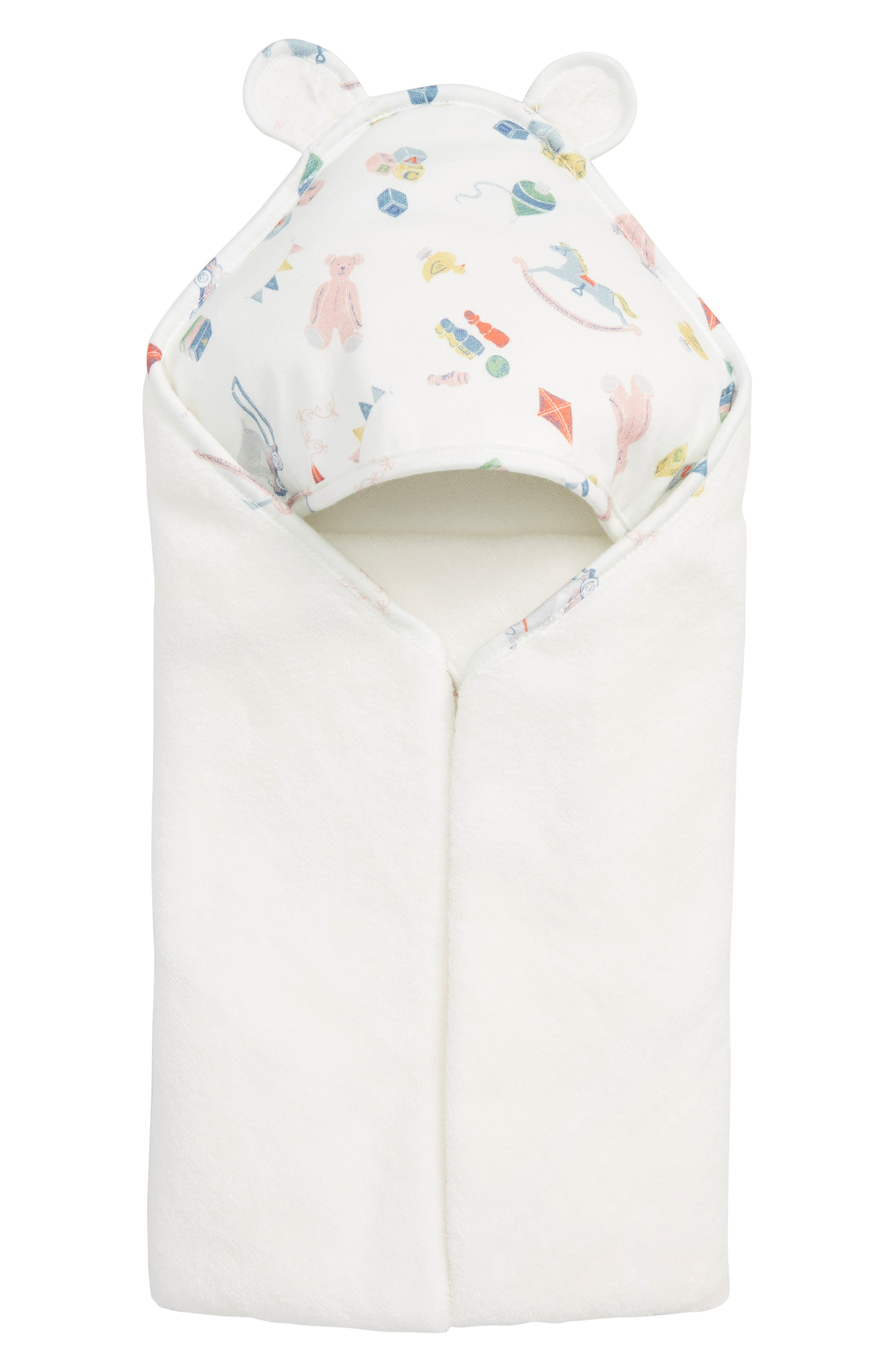 Supersoft Hooded Towel,                         Main,                         color, MULTI NURSERY