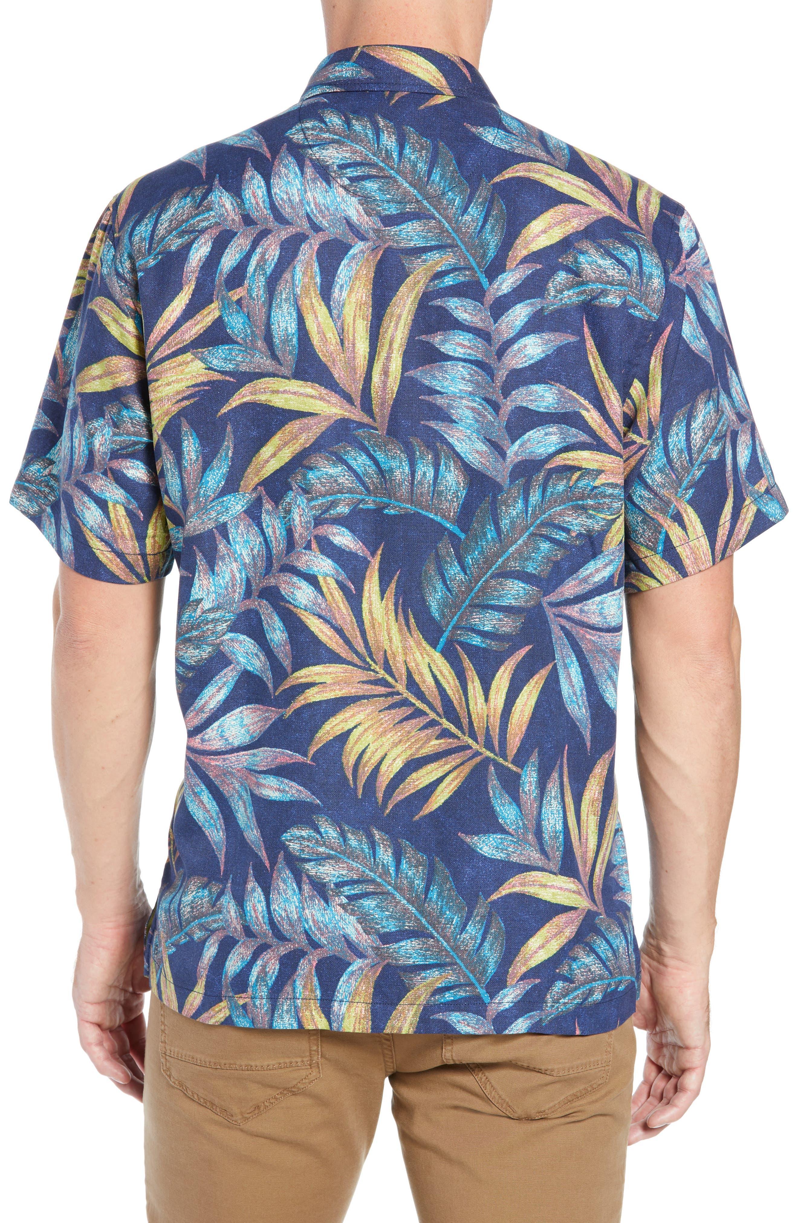Parque Palms Sport Shirt,                             Alternate thumbnail 3, color,                             RIVIERA AZURE