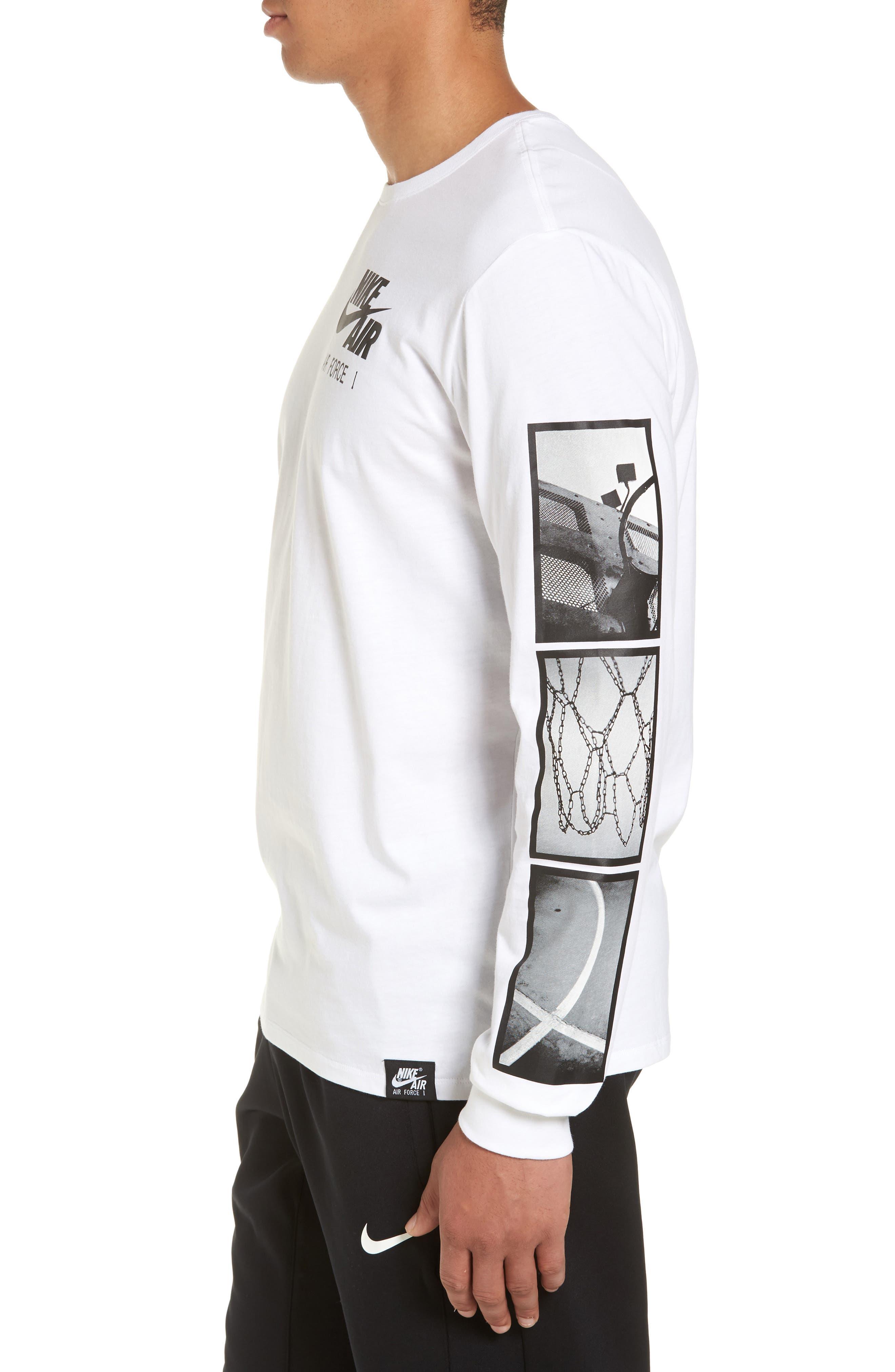 Air Force 1 Long Sleeve T-Shirt,                             Alternate thumbnail 6, color,
