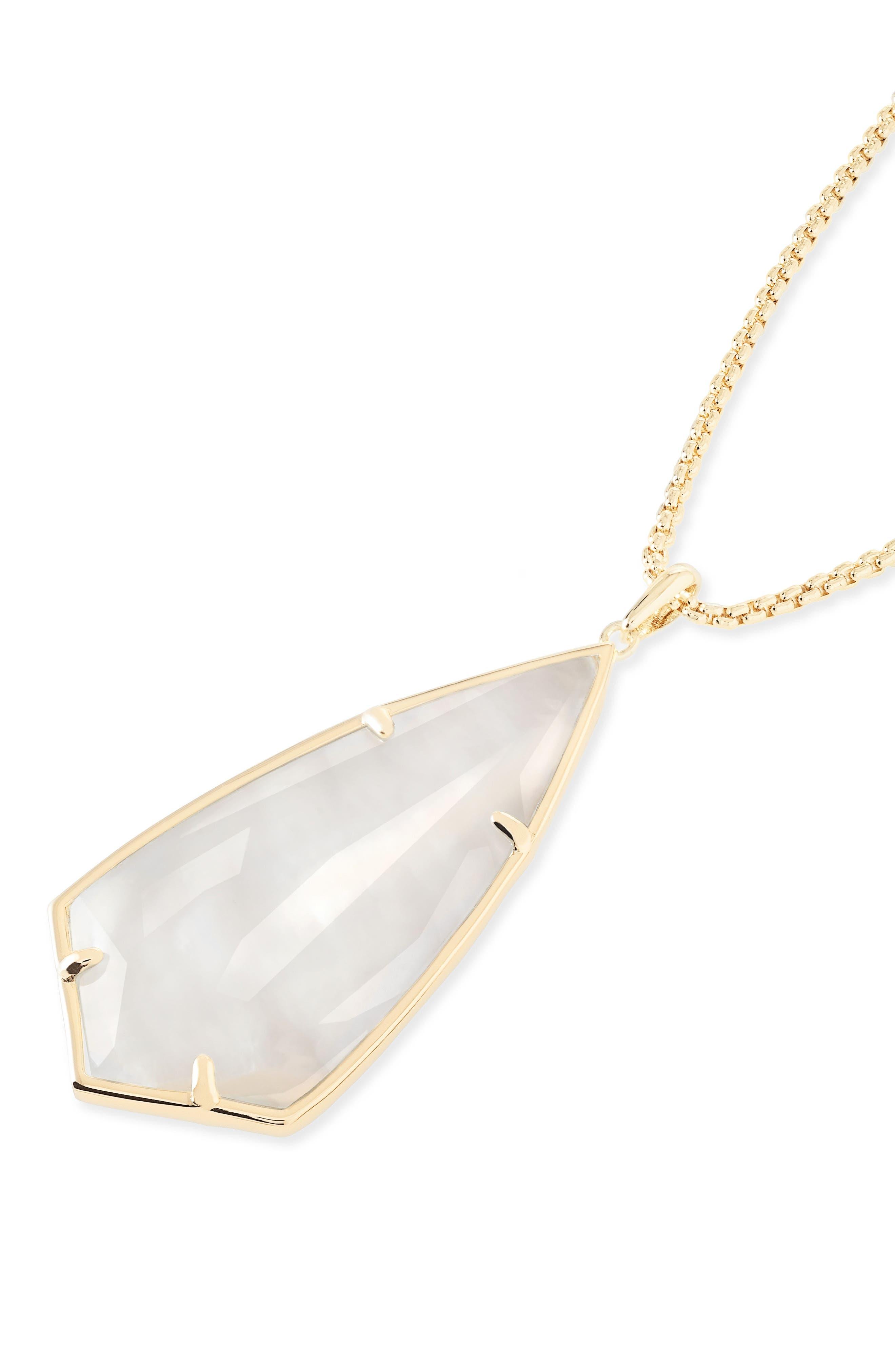 'Carole' Long Semiprecious Stone Pendant Necklace,                             Alternate thumbnail 40, color,