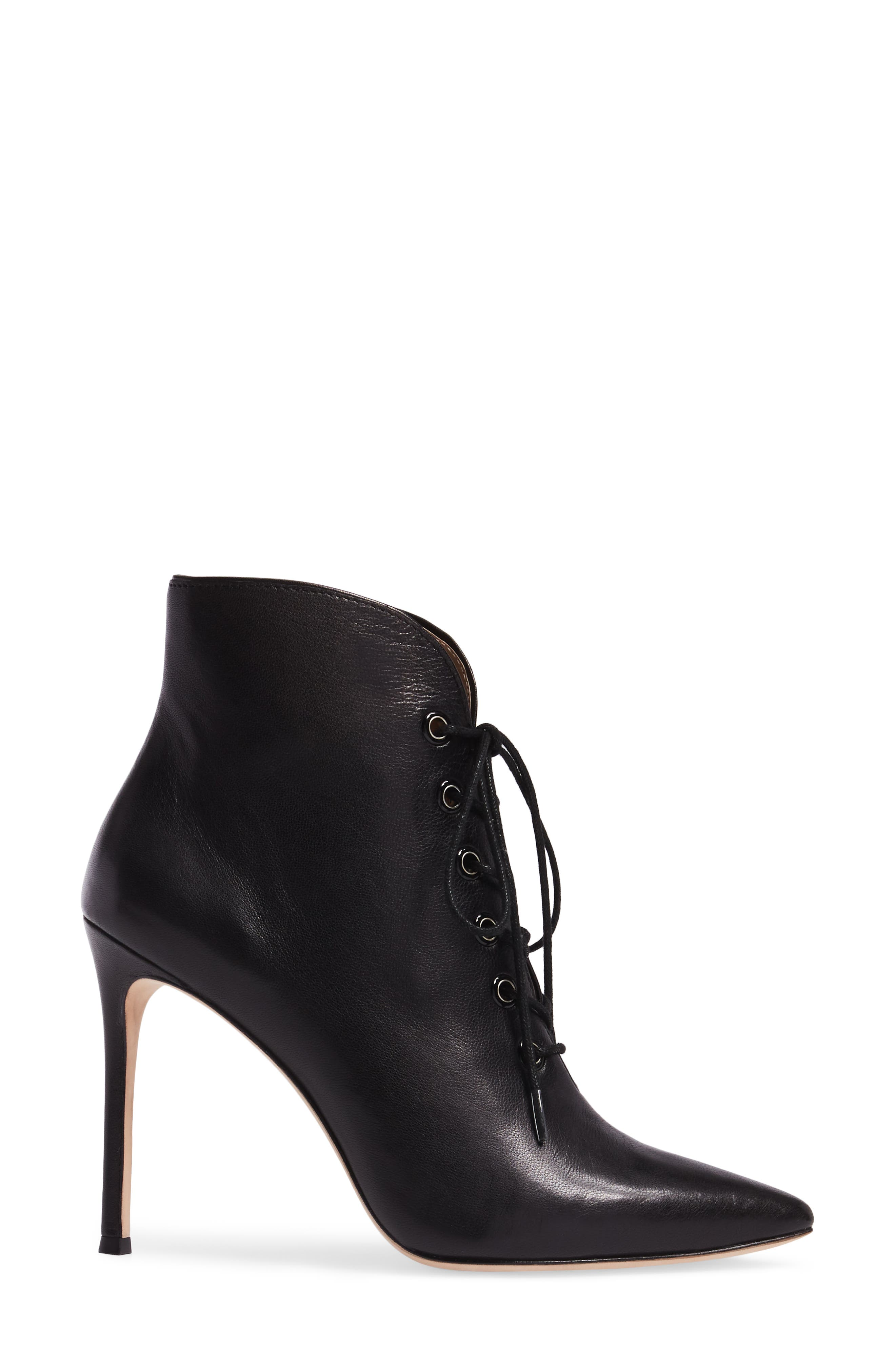 Cari Pointy Toe Bootie,                             Alternate thumbnail 3, color,                             001