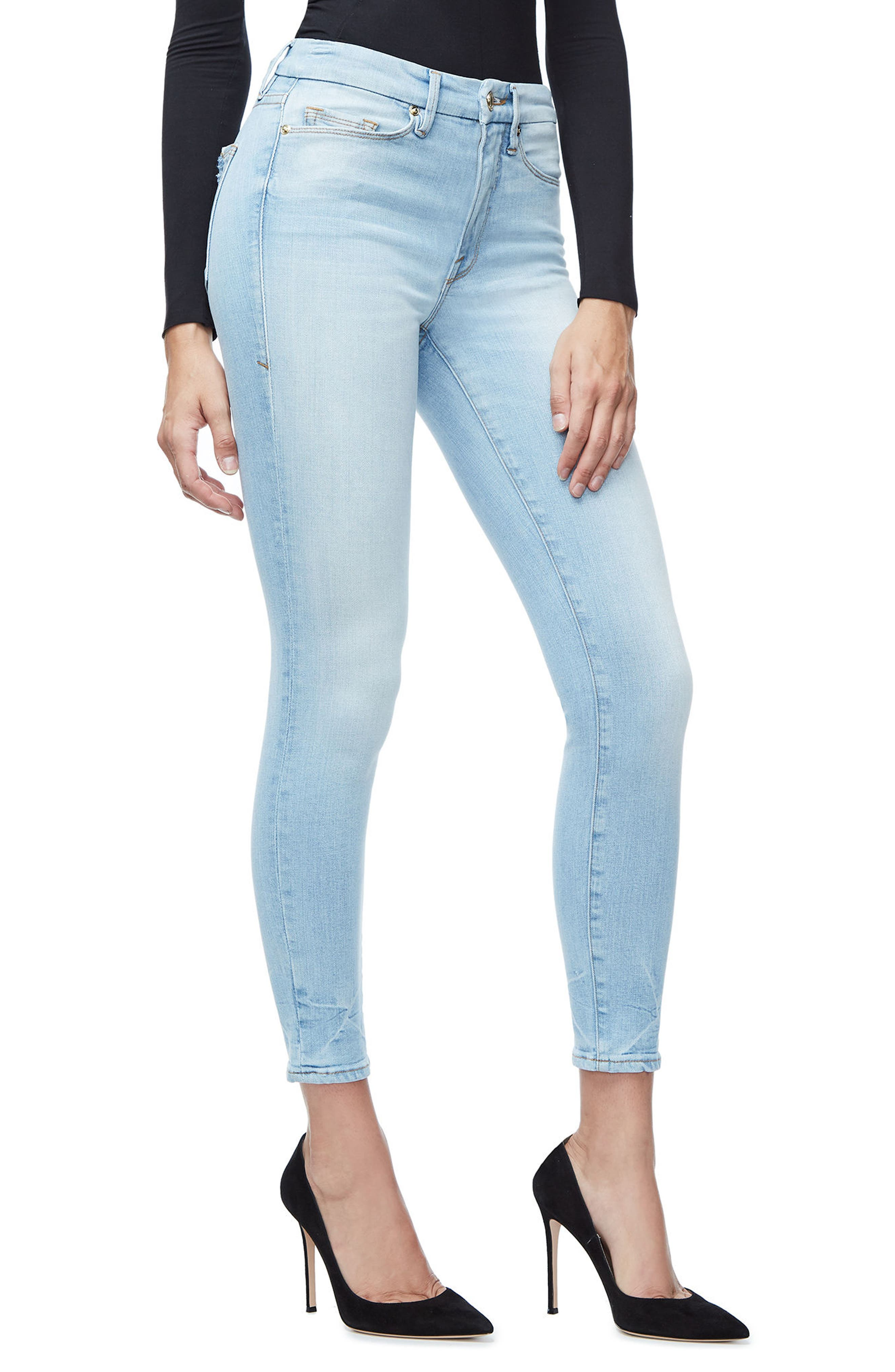 Good Legs High Waist Crop Skinny Jeans,                             Alternate thumbnail 3, color,