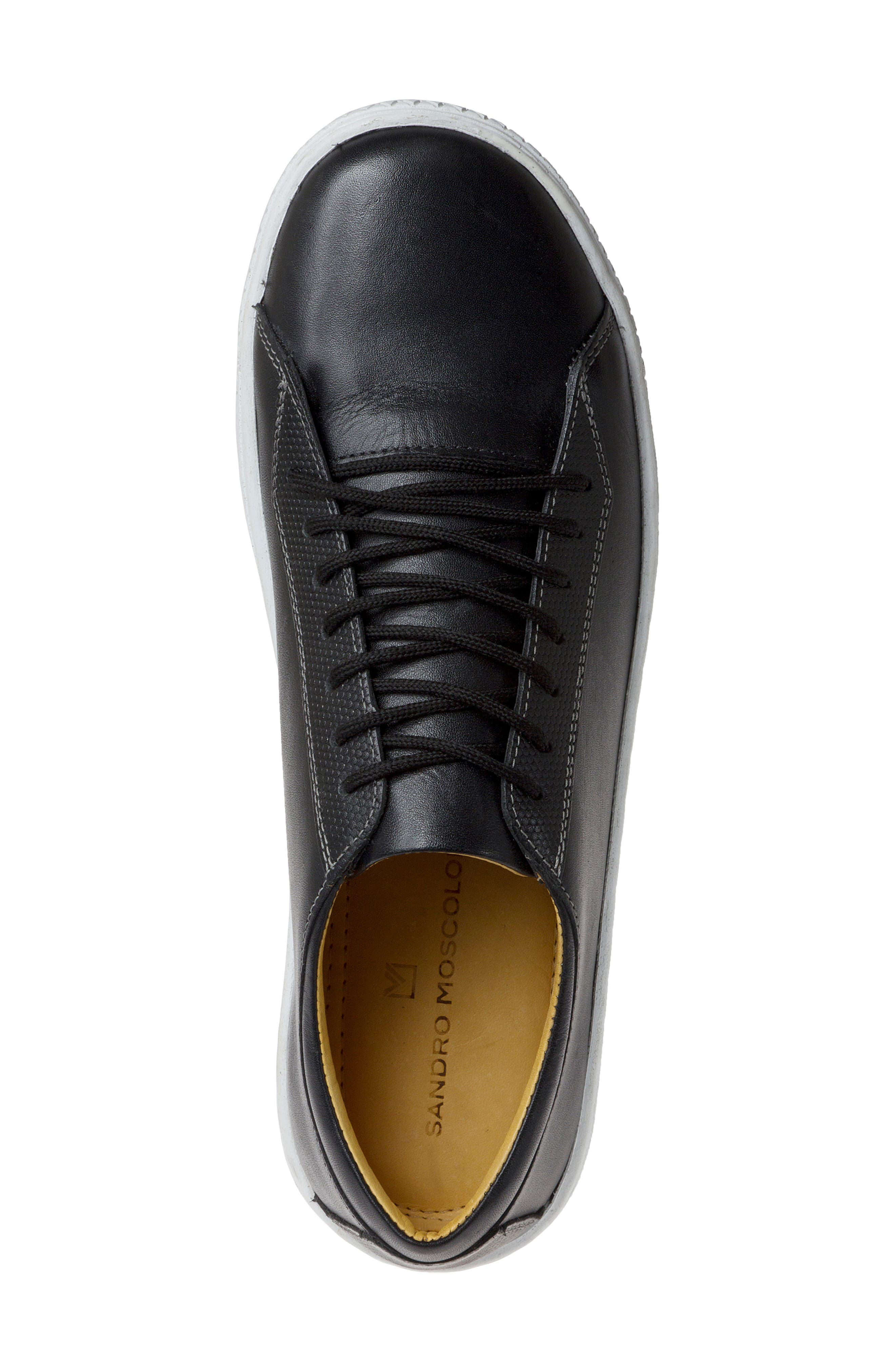 Minh Low Top Sneaker,                             Alternate thumbnail 5, color,                             BLACK LEATHER