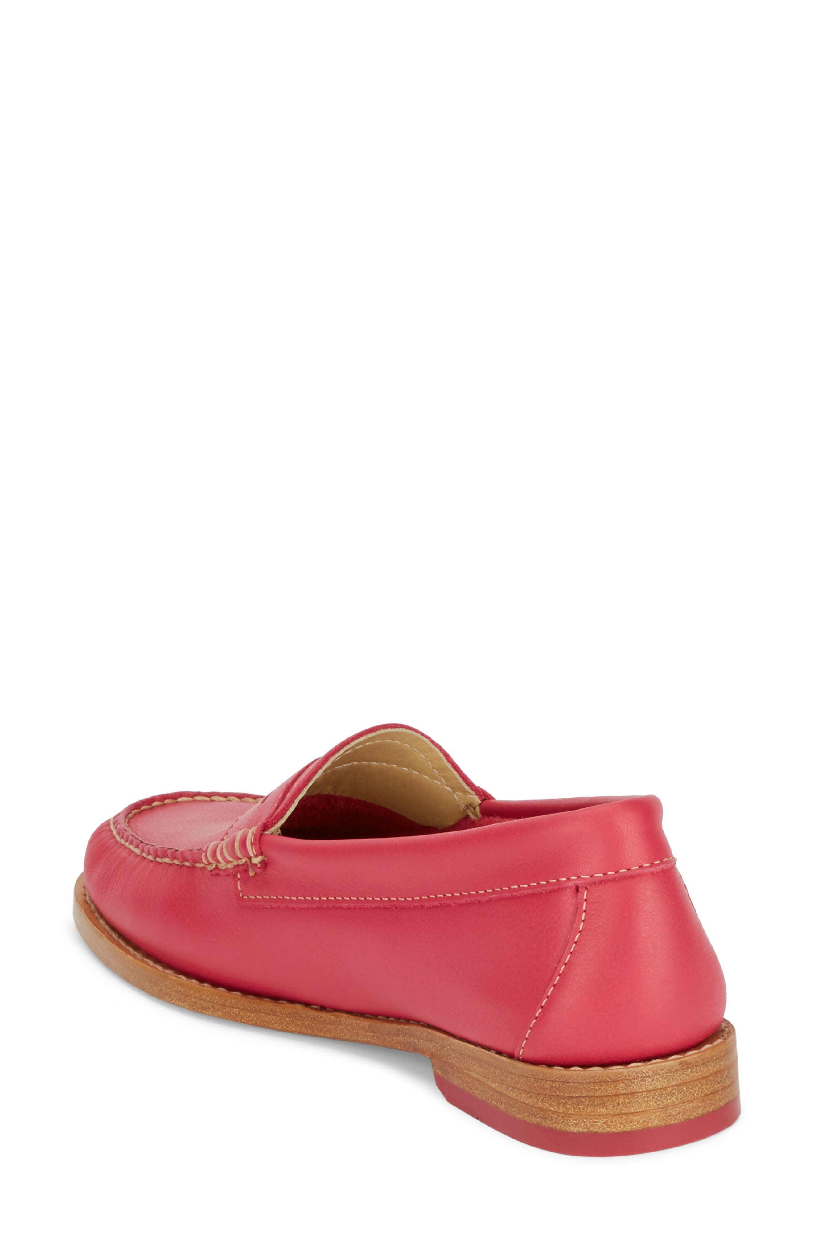 'Whitney' Loafer,                             Alternate thumbnail 2, color,                             BERRY PINK LEATHER
