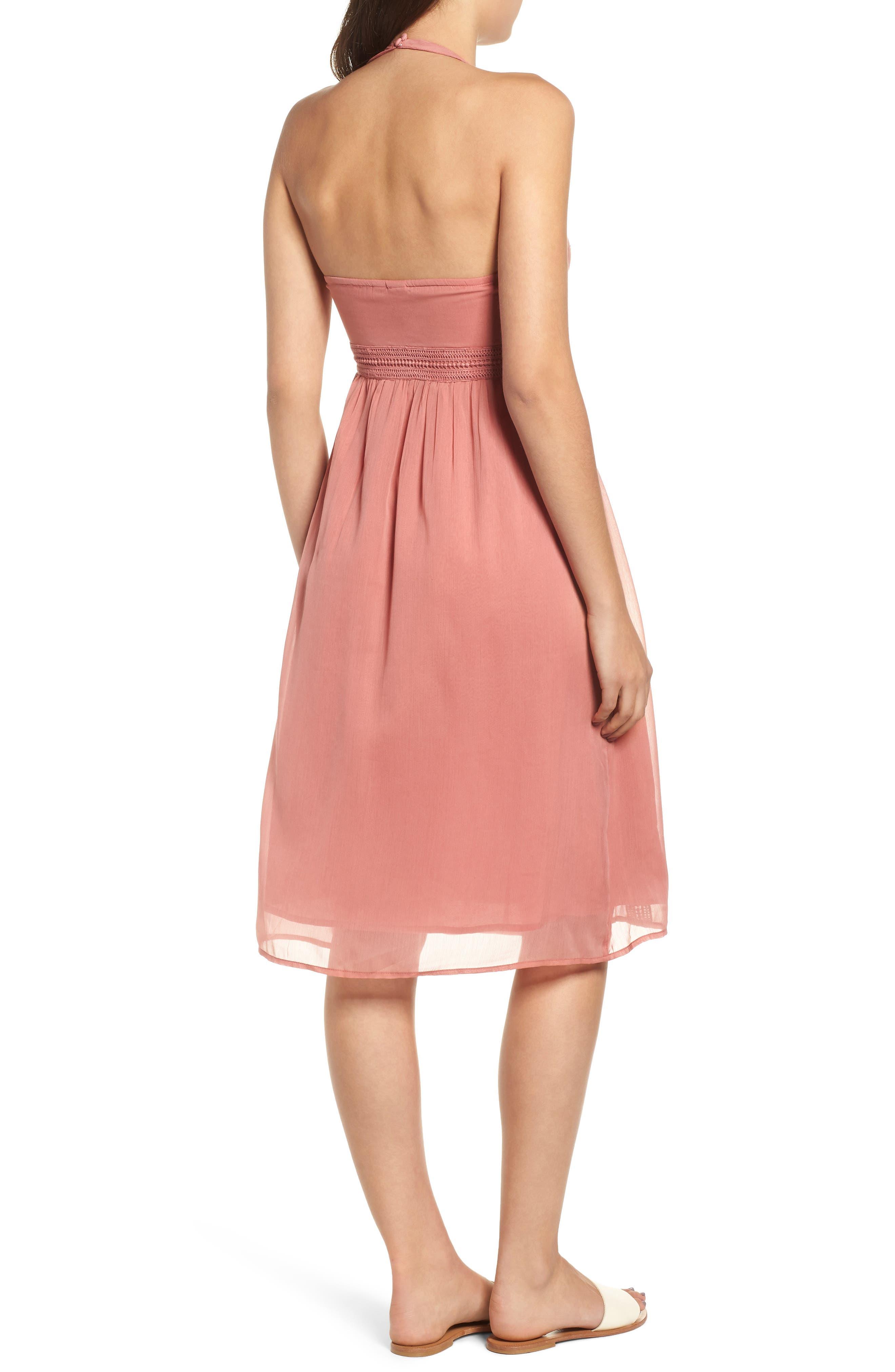 Blurred Landscape Dress,                             Alternate thumbnail 2, color,                             WITHERED ROSE