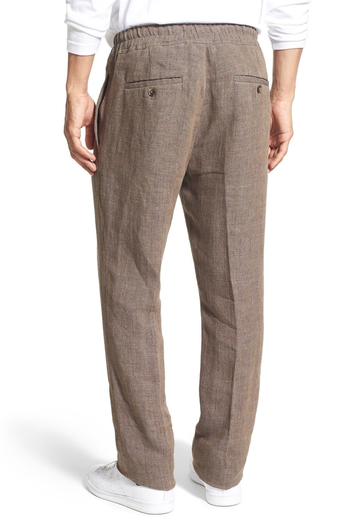 'Delave' Drawstring Linen Pants,                             Alternate thumbnail 2, color,                             207