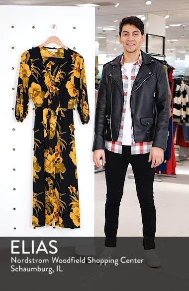 Oliviera Floral Print Cutout Midi Dress, sales video thumbnail