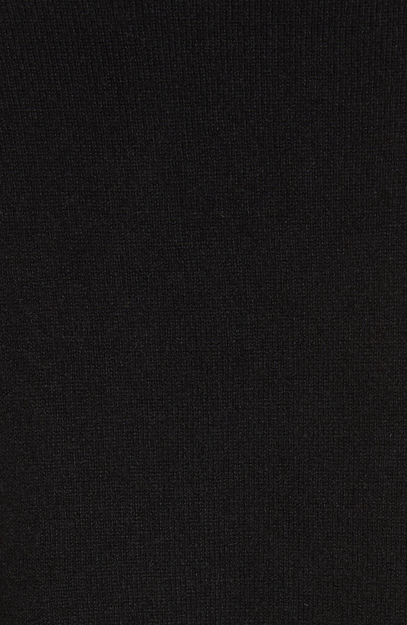Preston Cashmere Crewneck Sweater,                             Alternate thumbnail 5, color,                             001