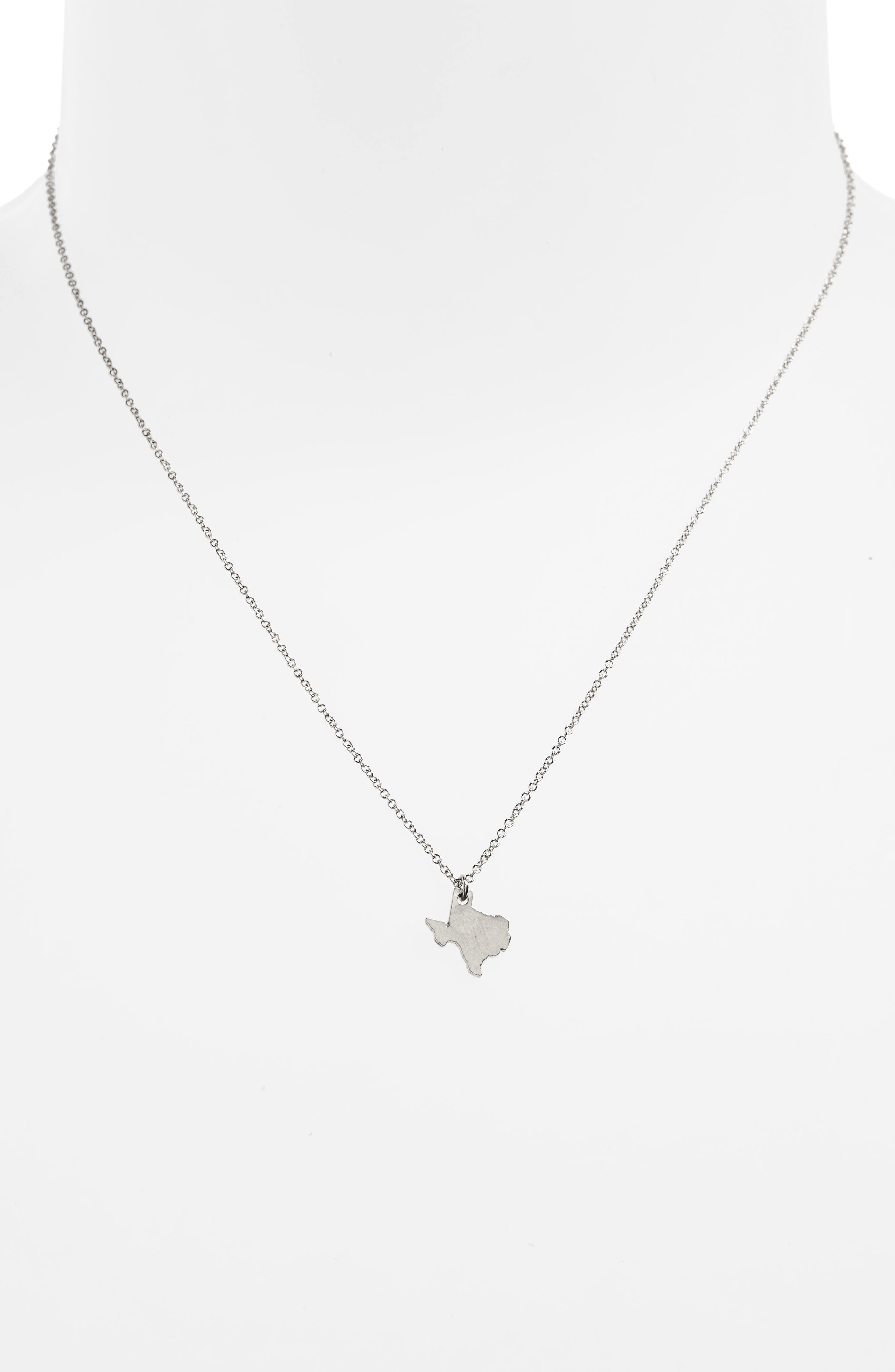 I Heart Texas Pendant Necklace,                             Alternate thumbnail 5, color,
