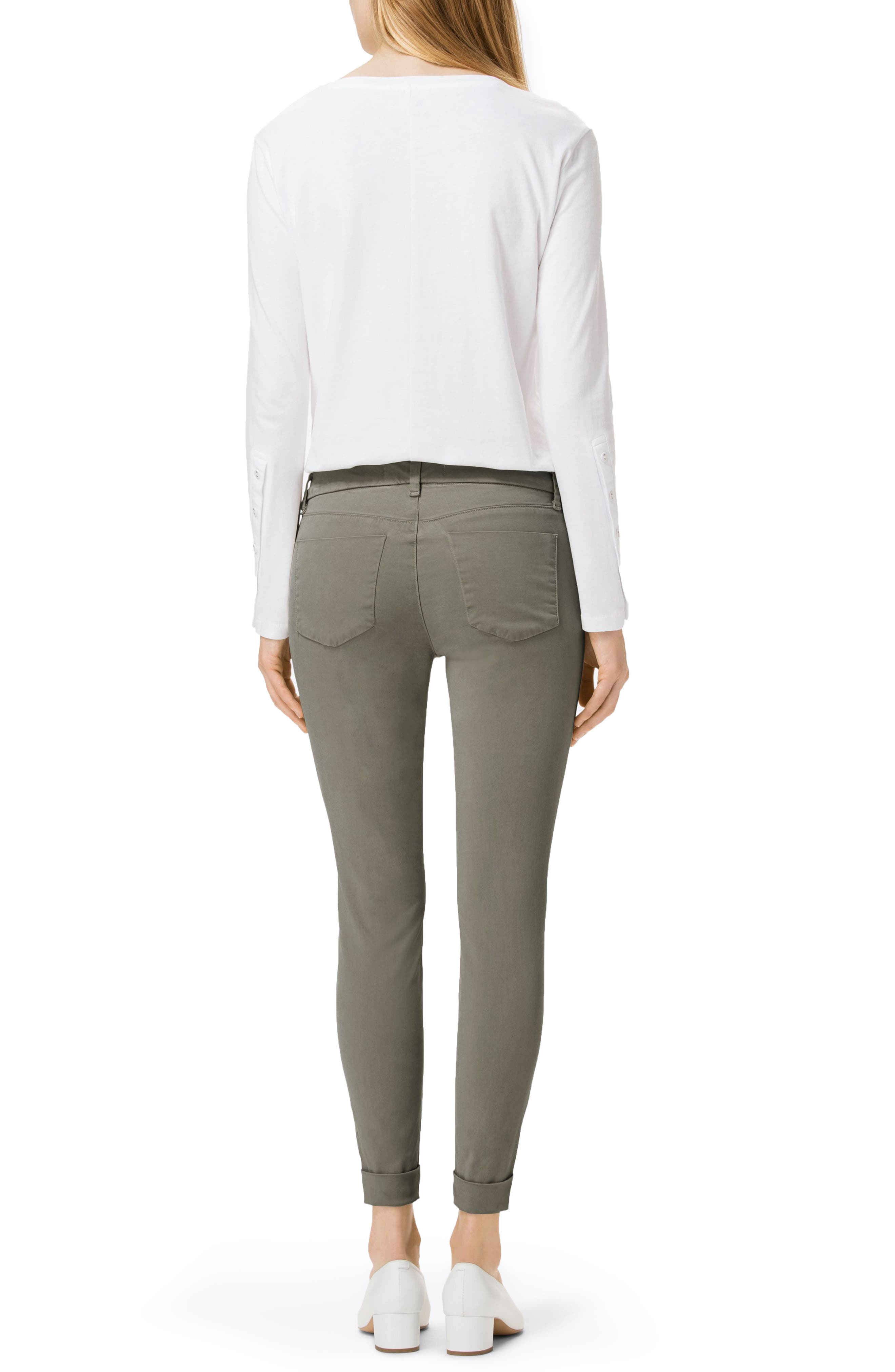 'Anja' Cuffed Crop Skinny Jeans,                             Alternate thumbnail 13, color,