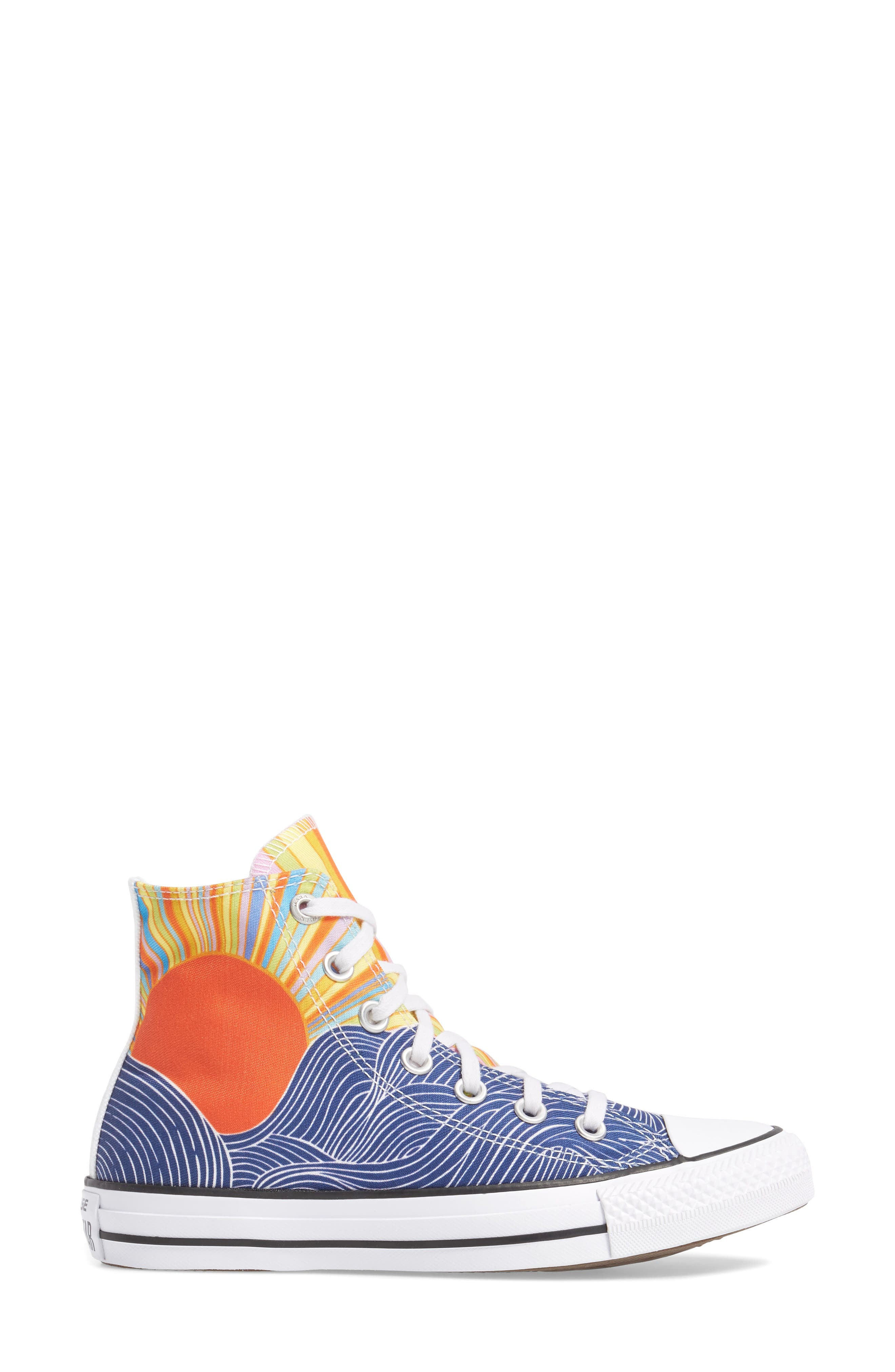 x Mara Hoffman All Star<sup>®</sup> Embroidered High Top Sneaker,                             Alternate thumbnail 5, color,