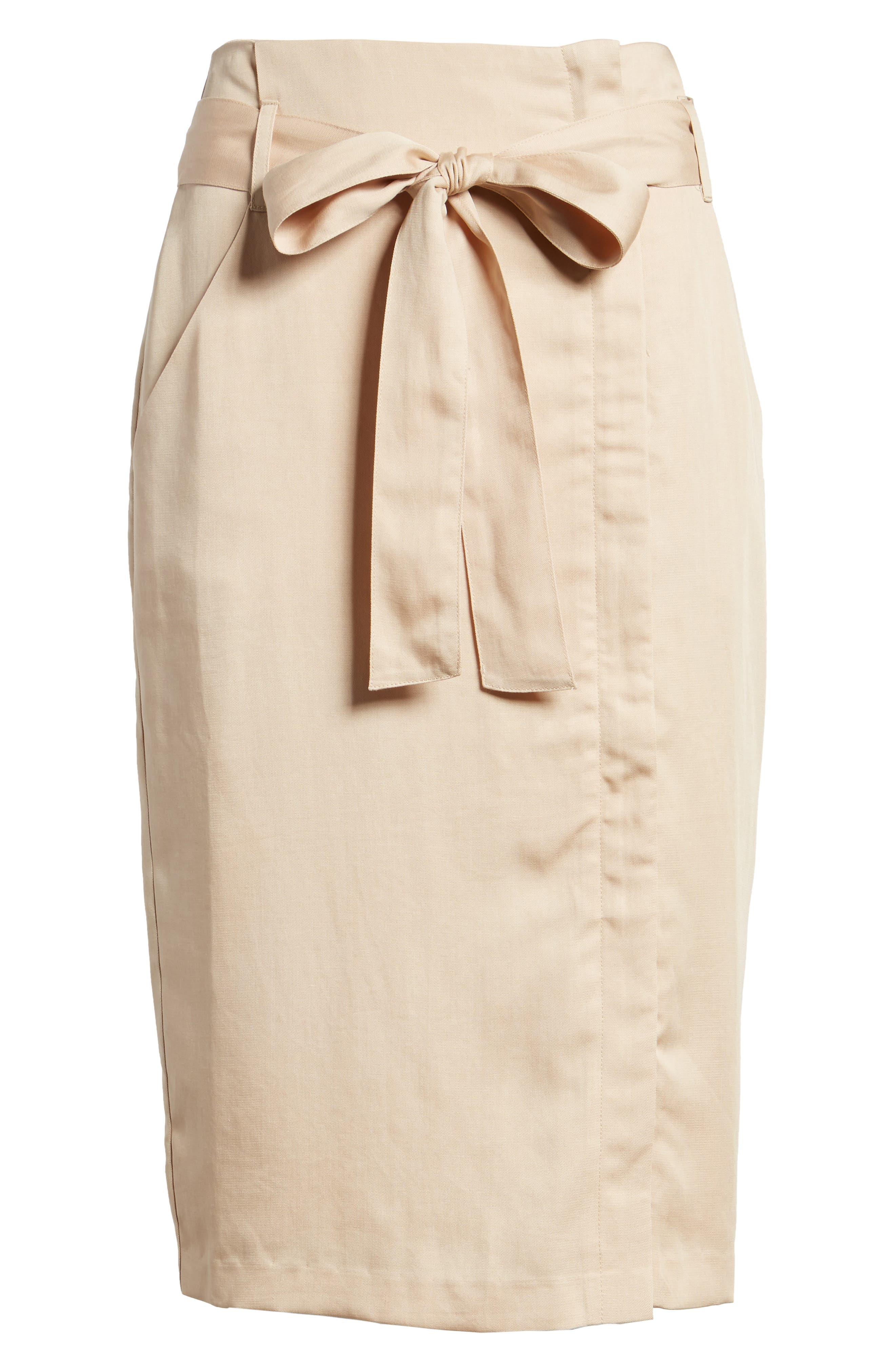 Tie Waist Pencil Skirt,                             Alternate thumbnail 6, color,                             250