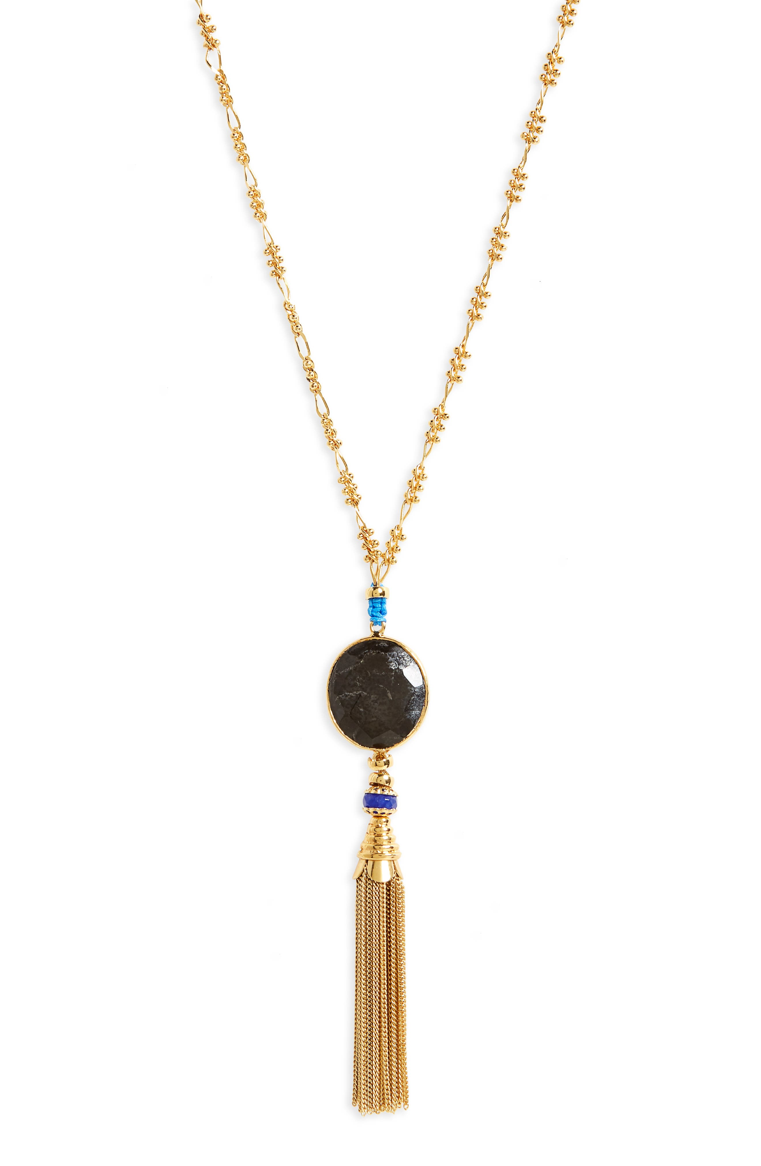 Serti Long Tassel Necklace,                             Alternate thumbnail 2, color,