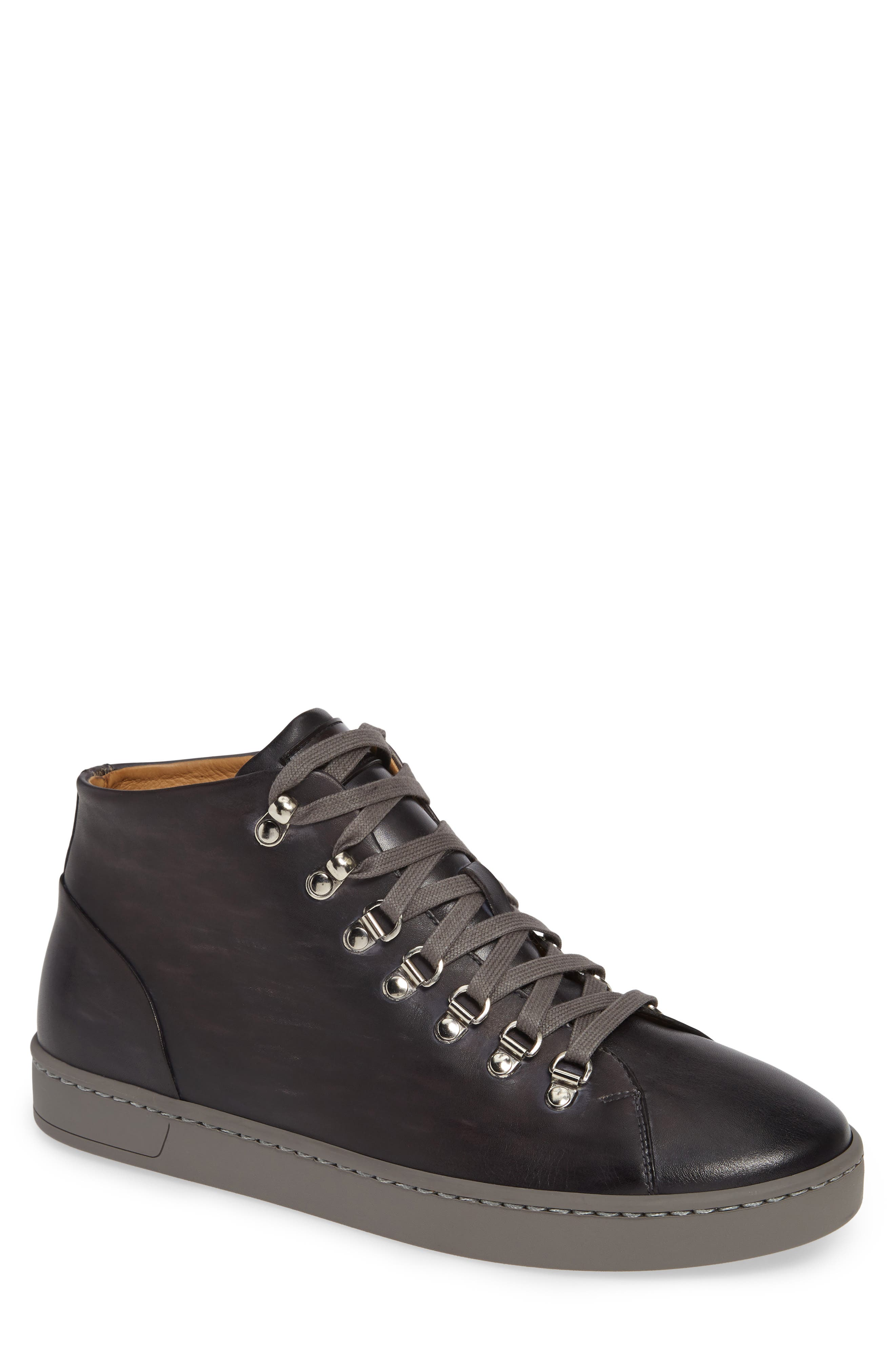 Rocco Sneaker,                         Main,                         color, GREY LEATHER
