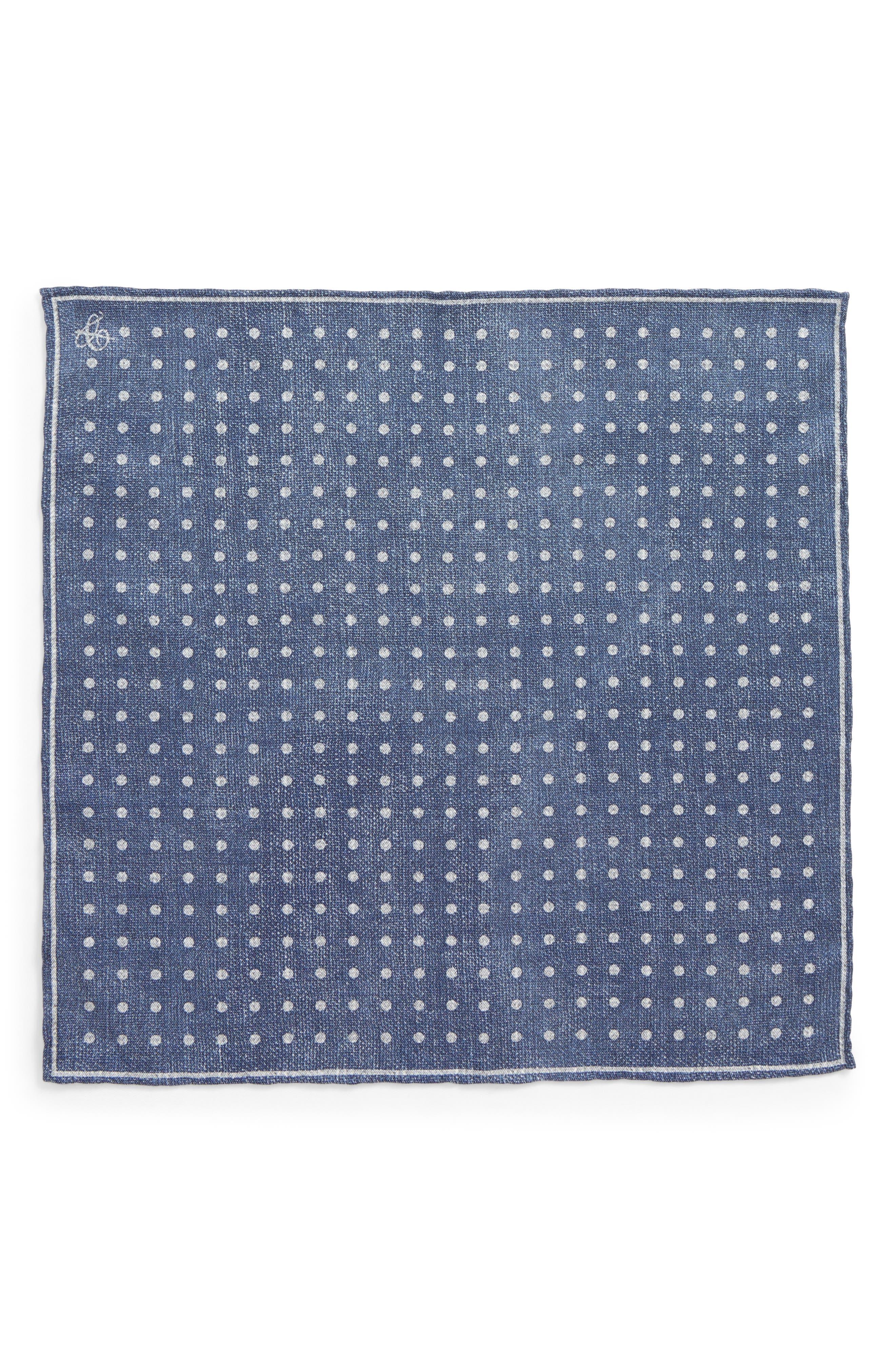 Dot Silk Pocket Square,                             Alternate thumbnail 5, color,