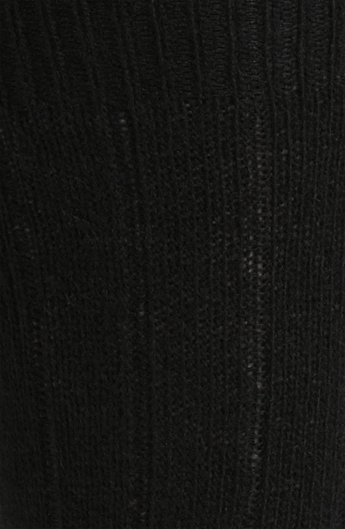 Cashmere Blend Socks,                             Alternate thumbnail 3, color,                             BLK