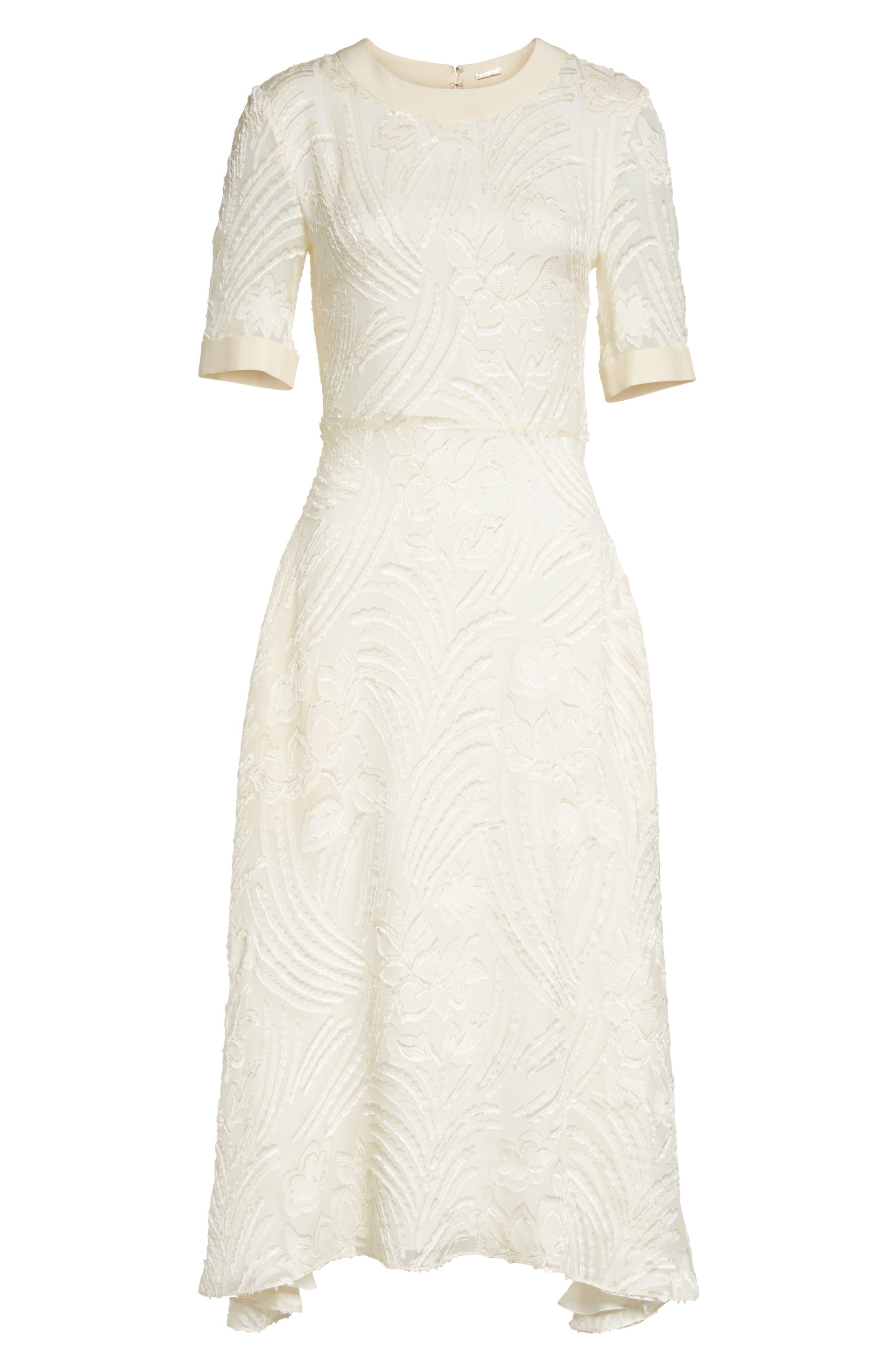 Fil Coupé A-Line Dress,                             Alternate thumbnail 6, color,                             906