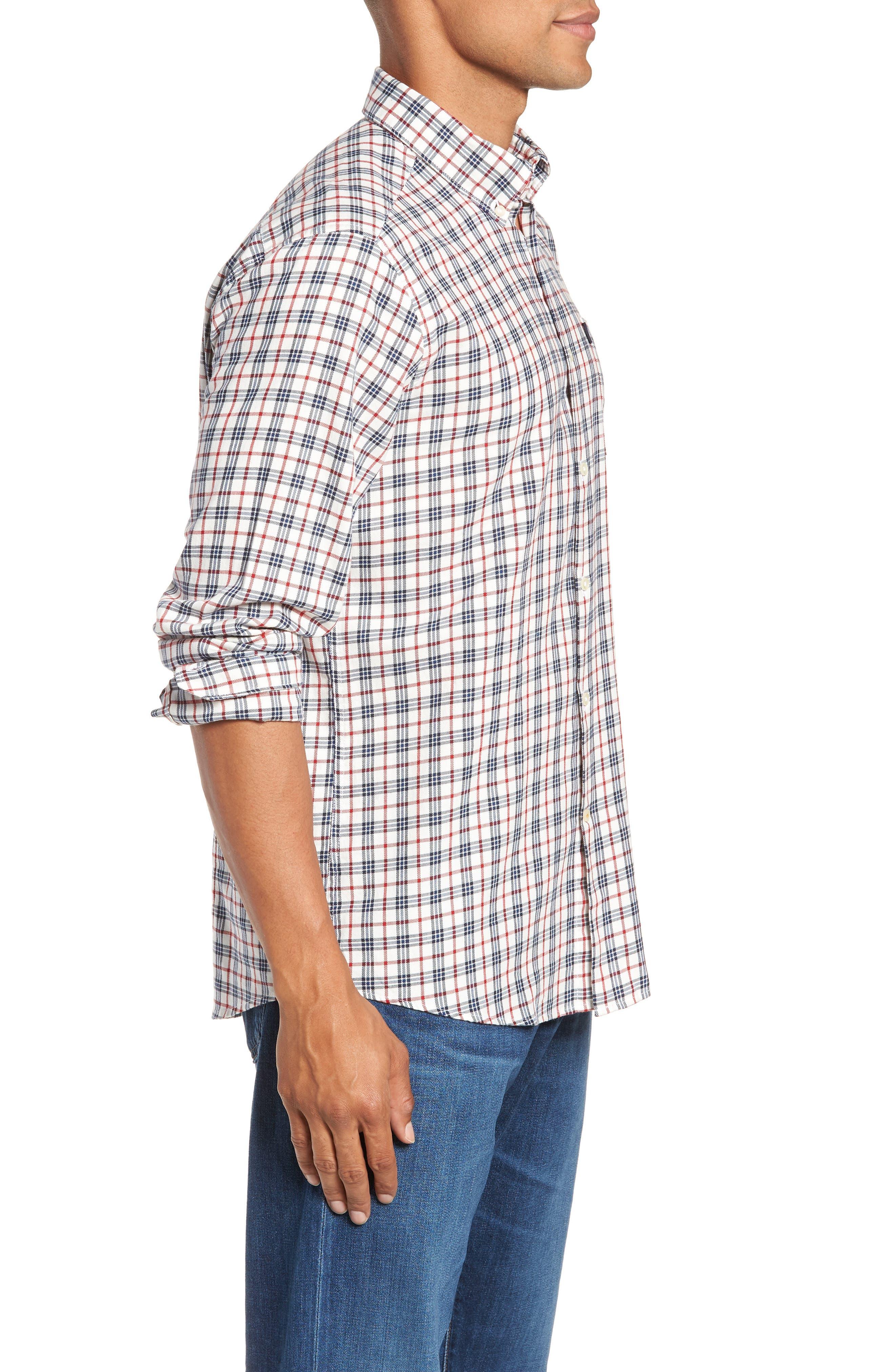 Stapleton Country Check Sport Shirt,                             Alternate thumbnail 4, color,                             100
