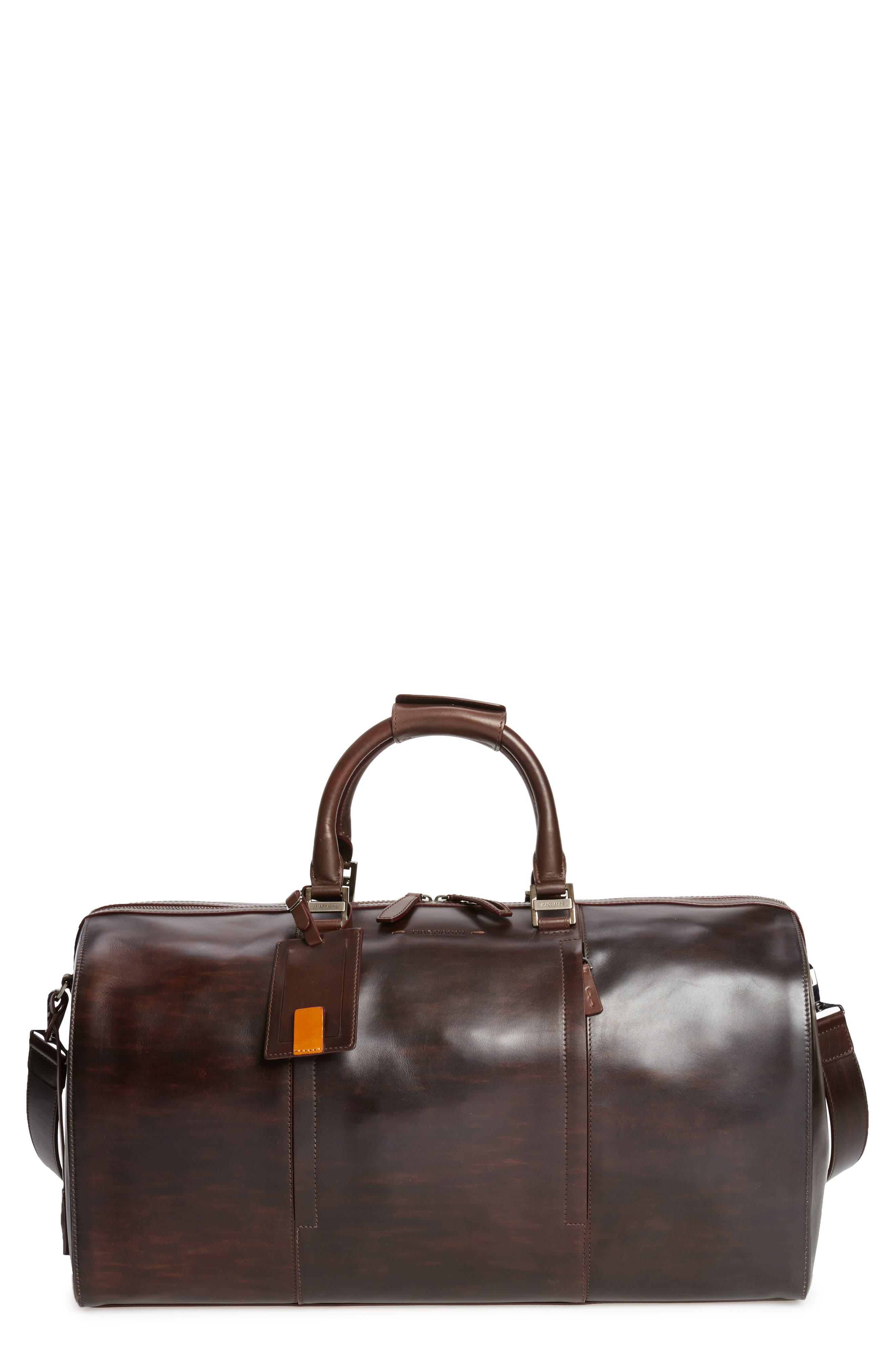 Traveler Leather Duffel Bag,                             Main thumbnail 2, color,