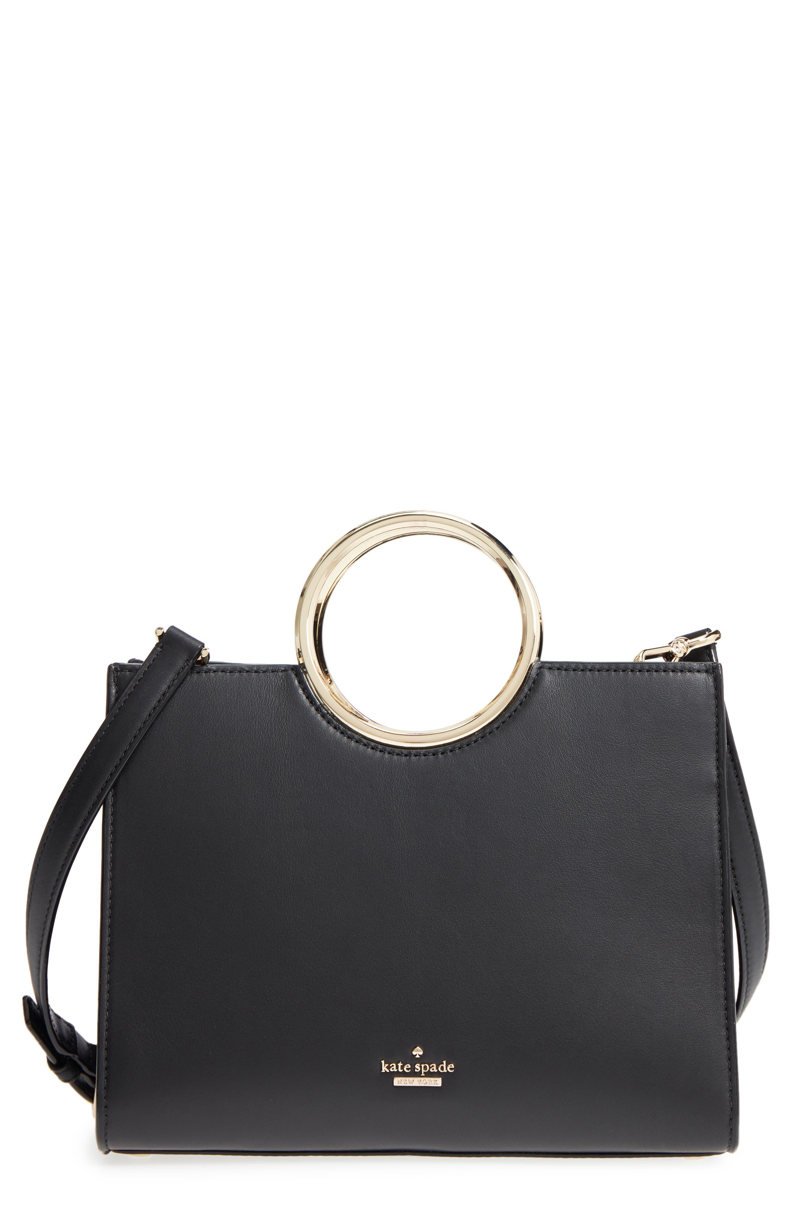 KATE SPADE NEW YORK,                             white rock road - sam leather satchel,                             Main thumbnail 1, color,                             001