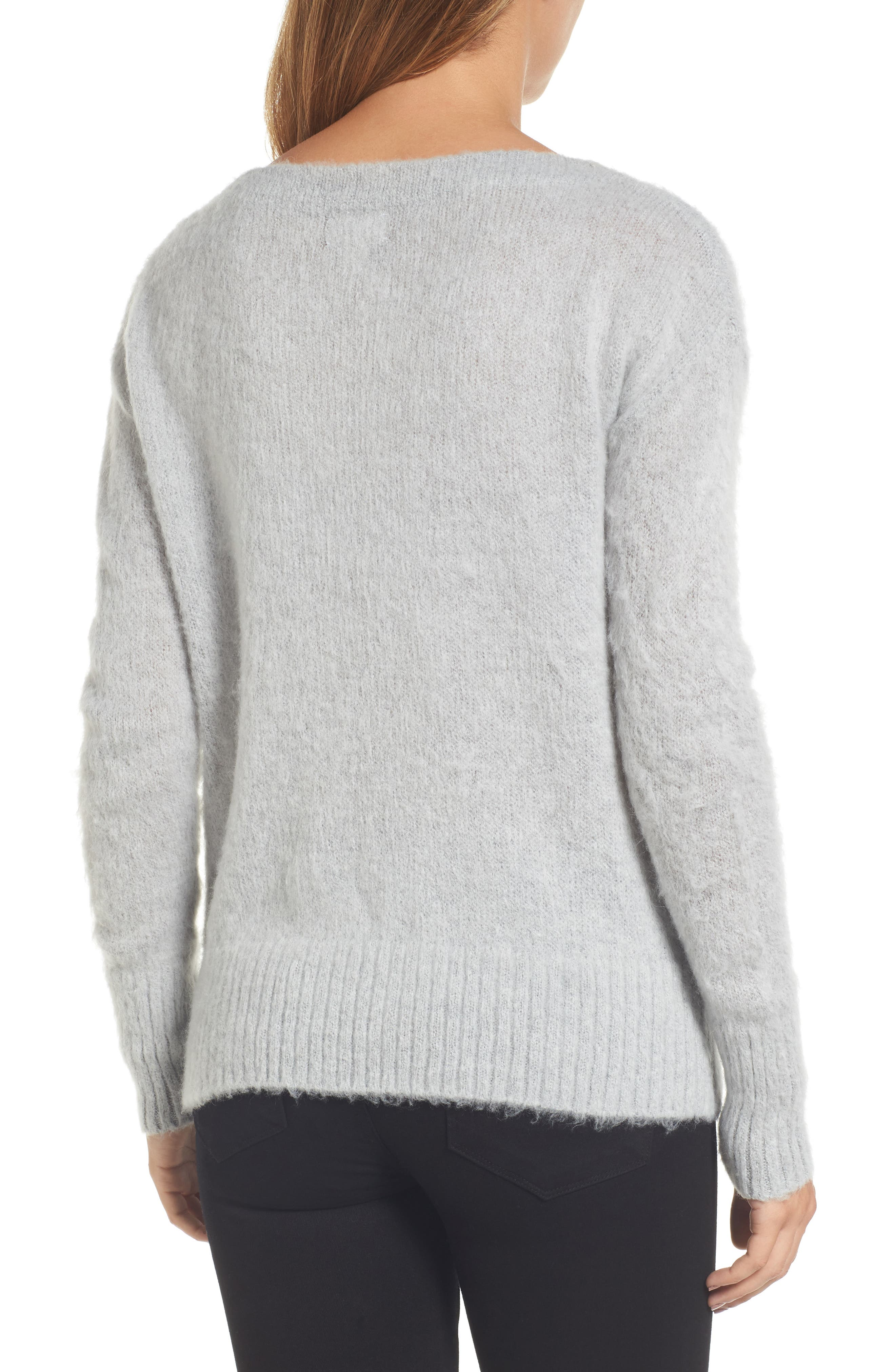 Long Sleeve Brushed Sweater,                             Alternate thumbnail 8, color,