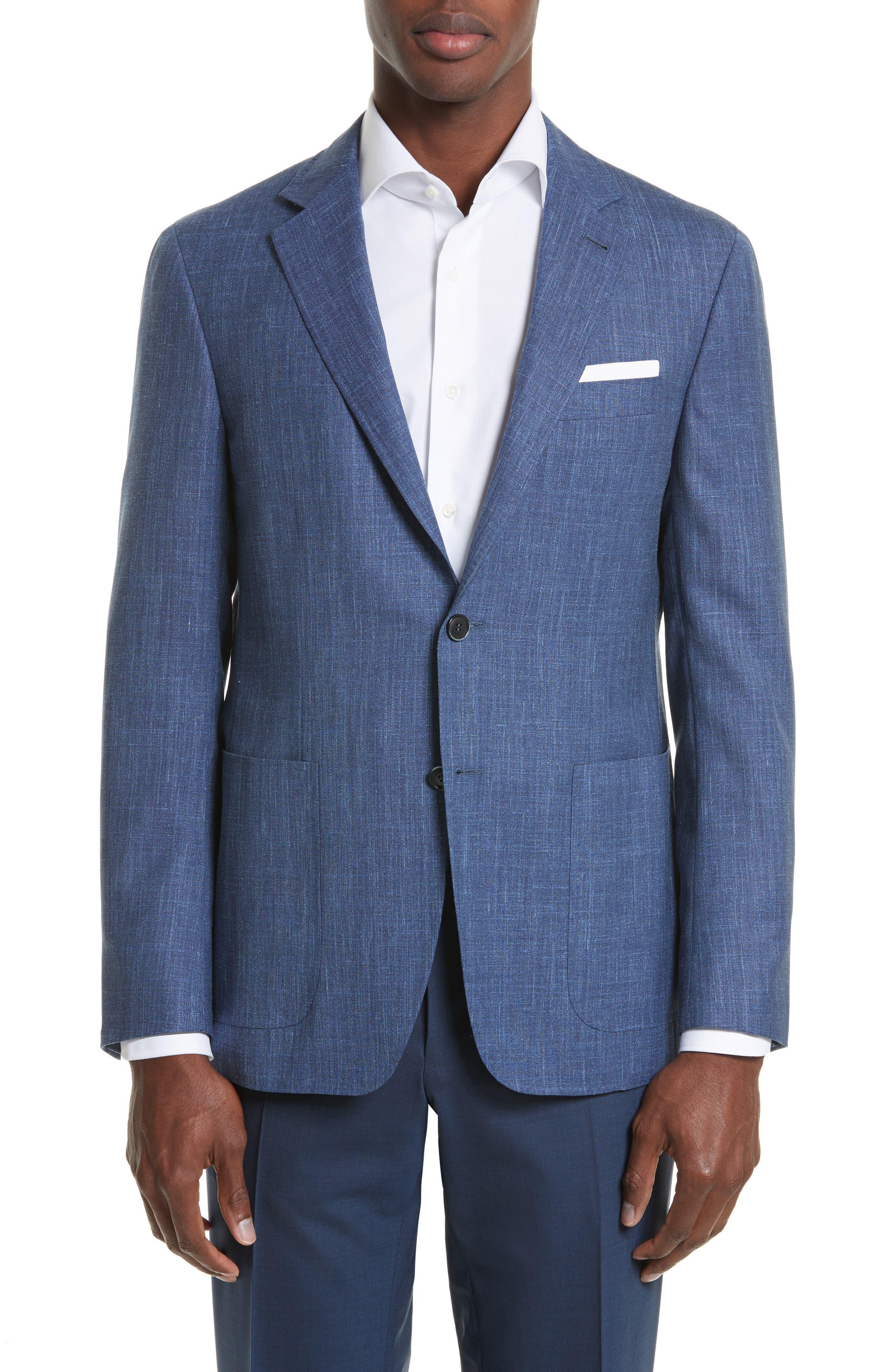 Kei Classic Fit Wool Blend Blazer,                             Main thumbnail 1, color,                             400