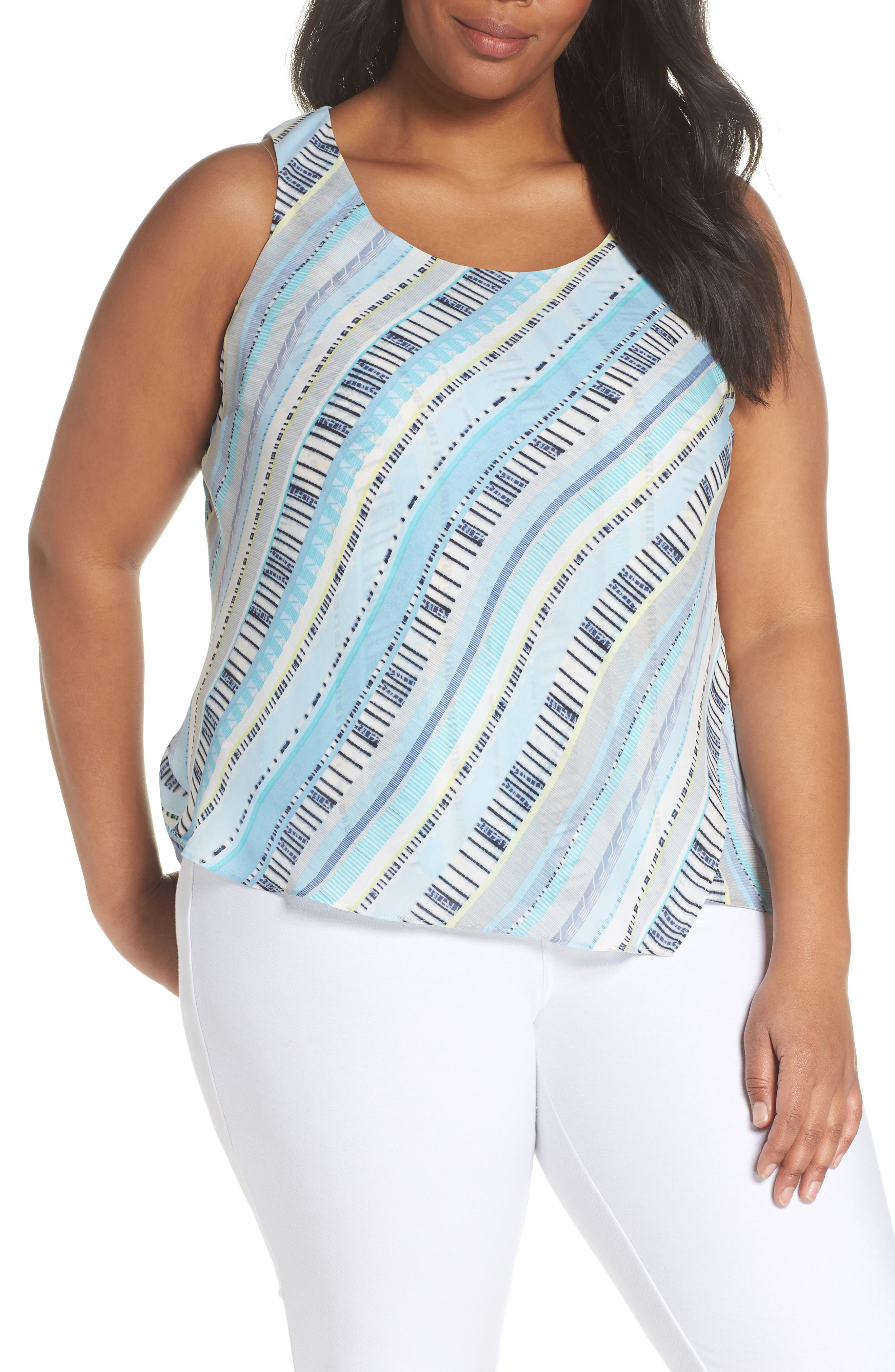 Beach Stripe Tank,                         Main,                         color, 490