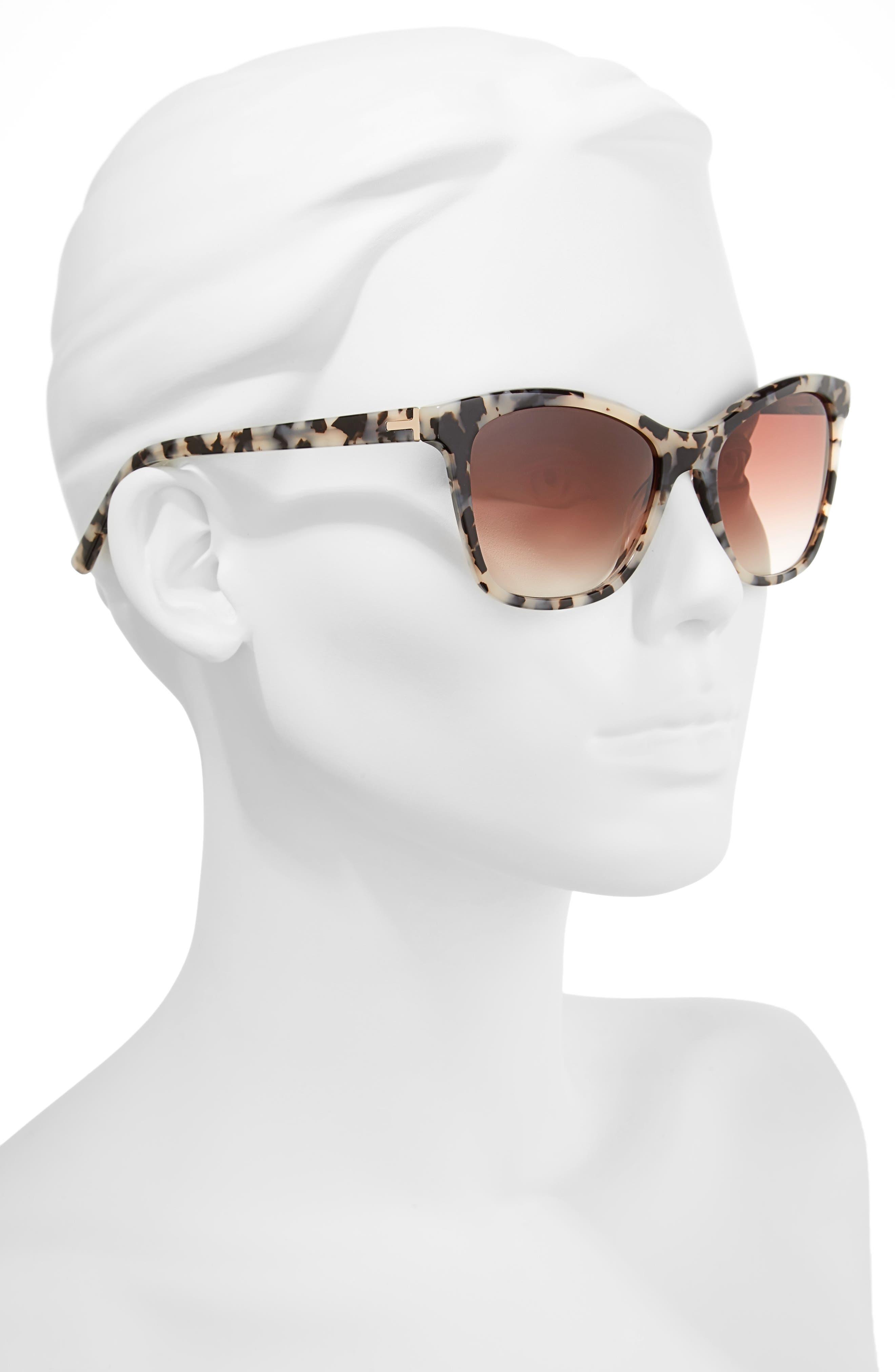 55mm Cat Eye Sunglasses,                             Alternate thumbnail 4, color,
