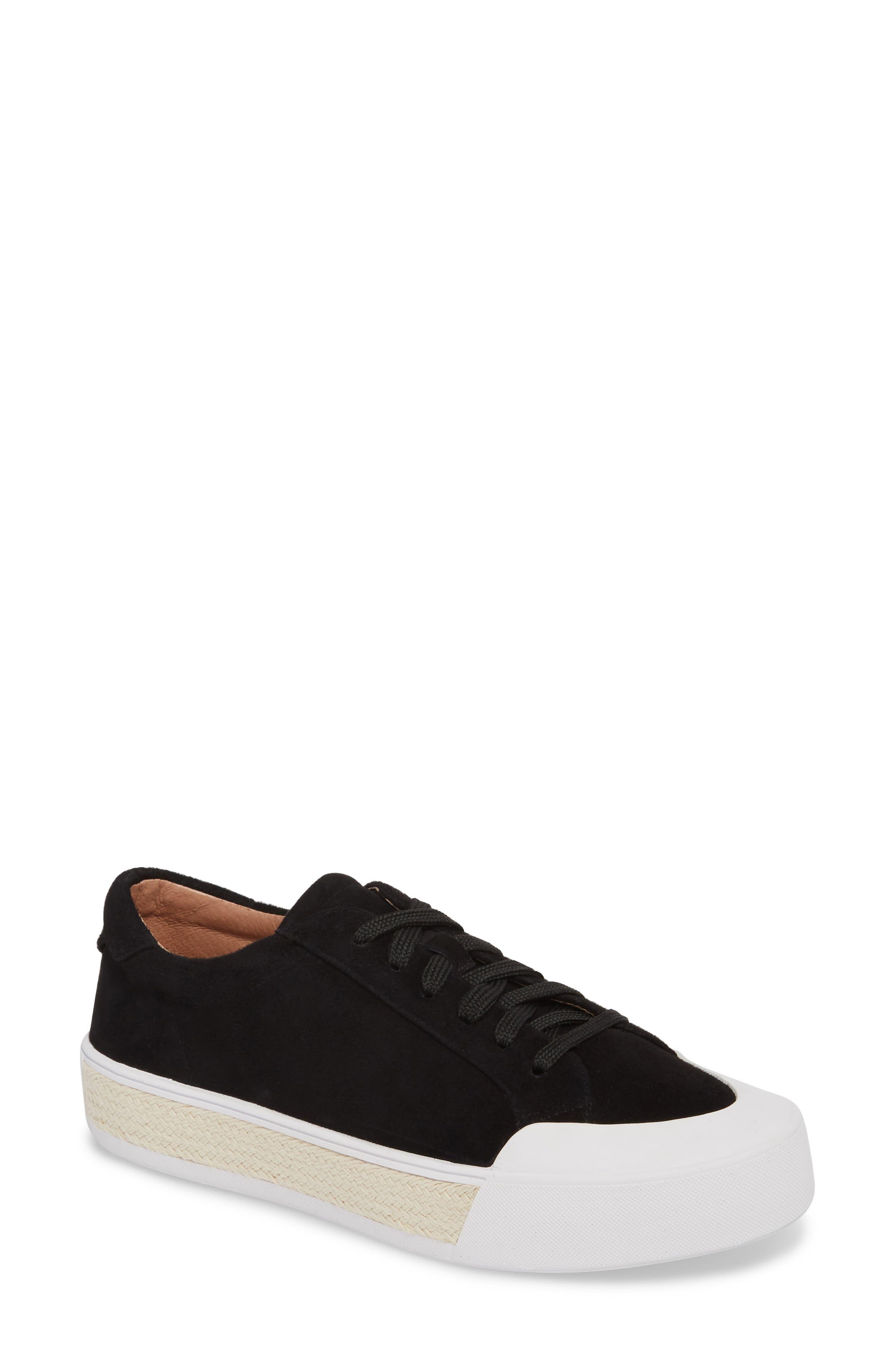 Toran Platform Sneaker,                             Main thumbnail 1, color,                             BLACK SUEDE